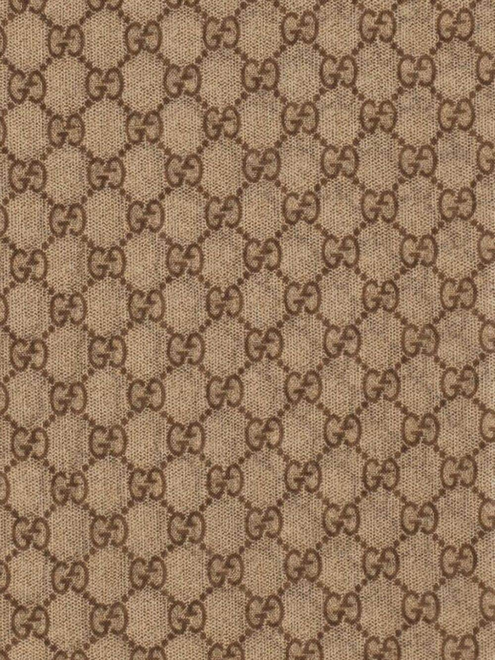 wool brown scarf with Web stripes 70x200cm GUCCI |  | 600950-4G2009766