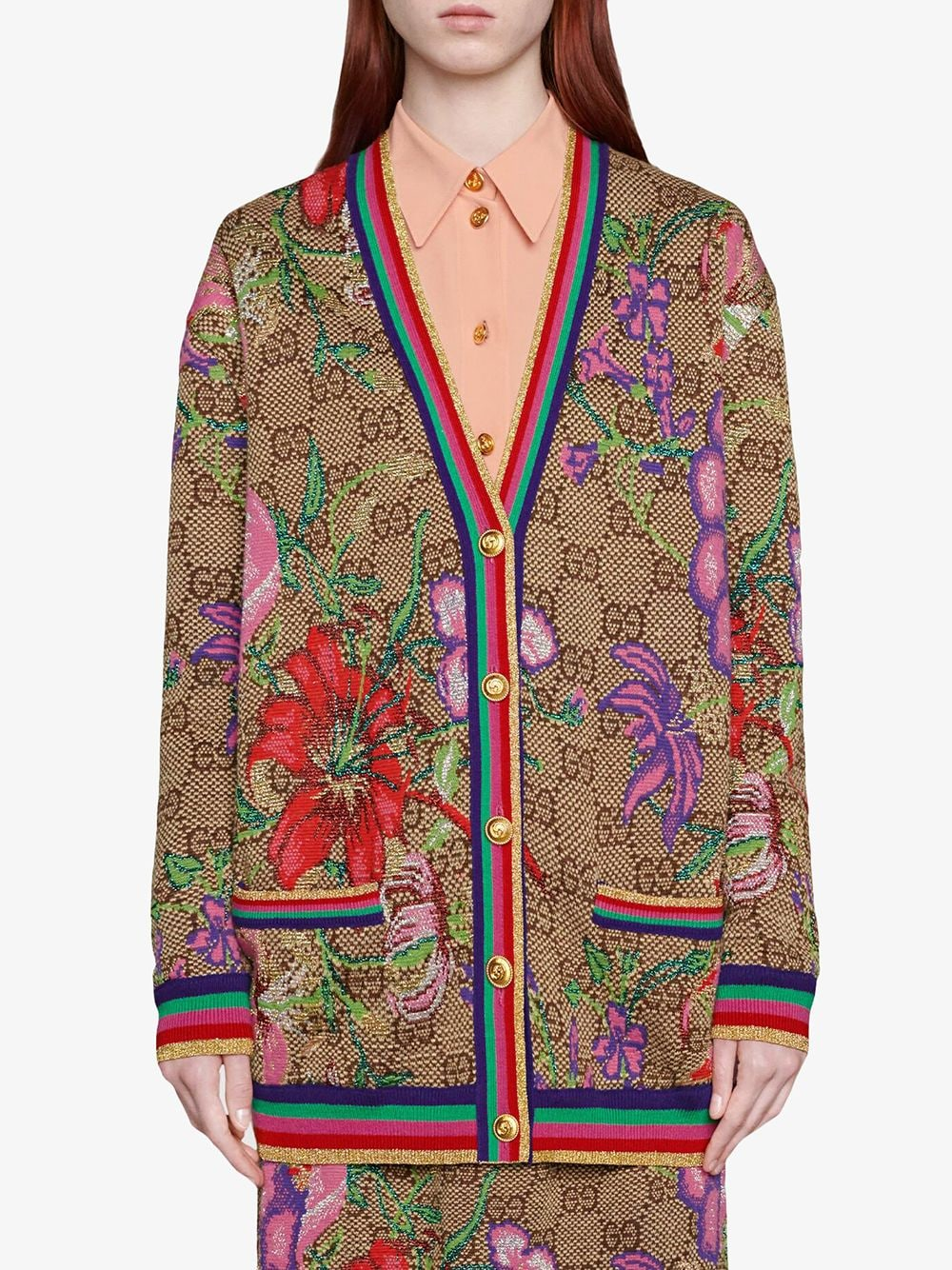 wool Gucci monogram multicolor print cardigan GUCCI |  | 606080-XKA7F2006