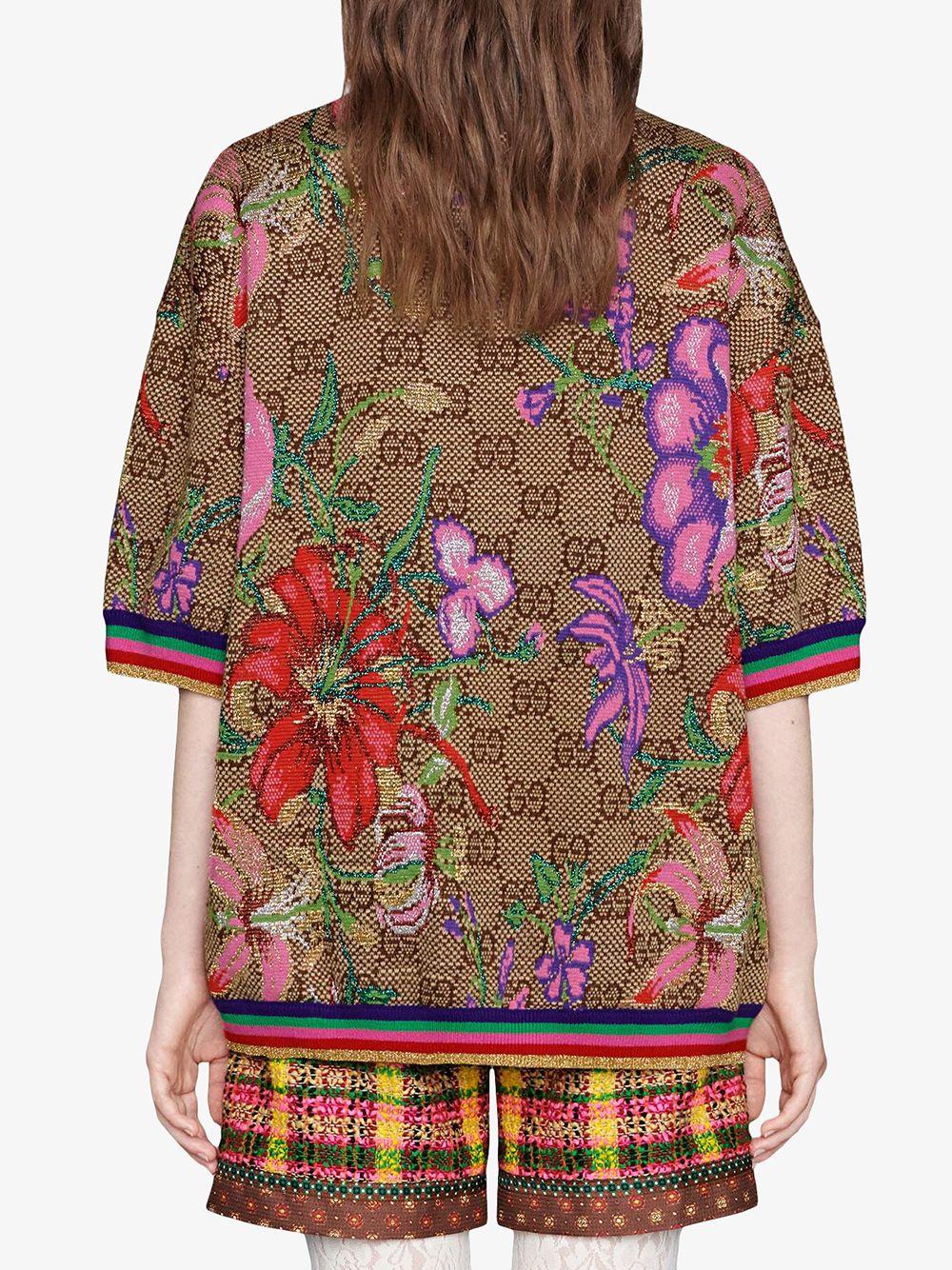 shrot sleeves Gucci Monogram flower print sweatshirt GUCCI |  | 606083-XKA7F2006