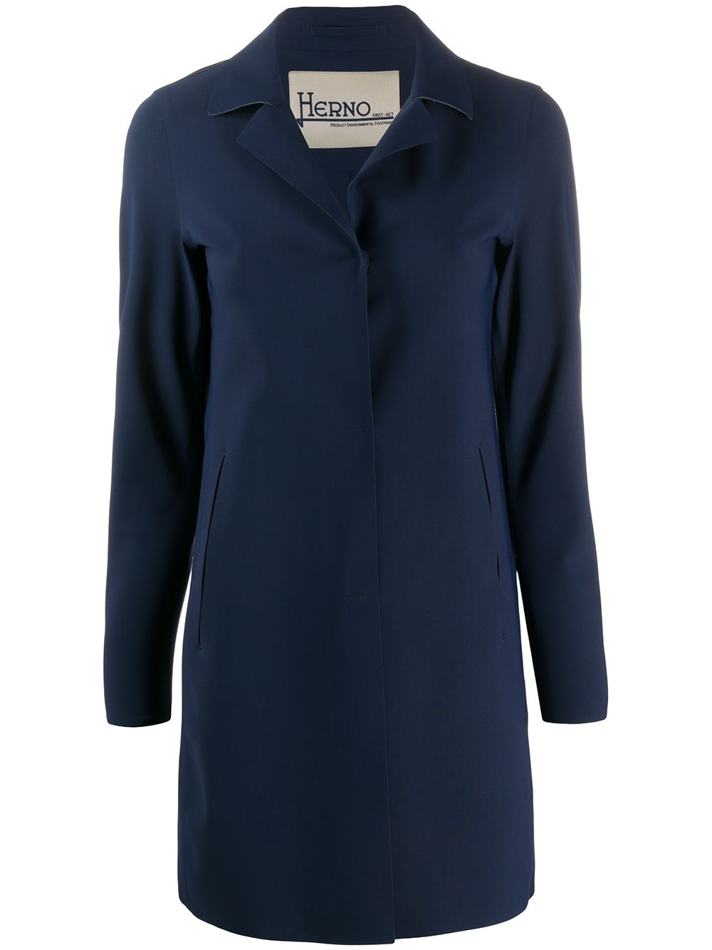 navy blue single-breasted mid-length coat  HERNO |  | CA0292D-13455S9201