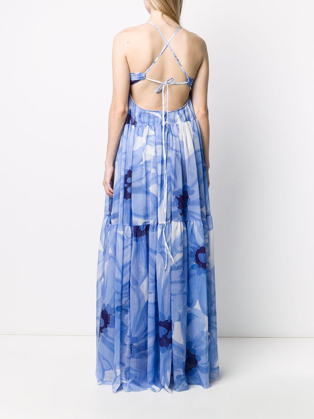 abito azzurro Le Robe Mistral con stampa floreale JACQUEMUS   Abiti   201DR012834E