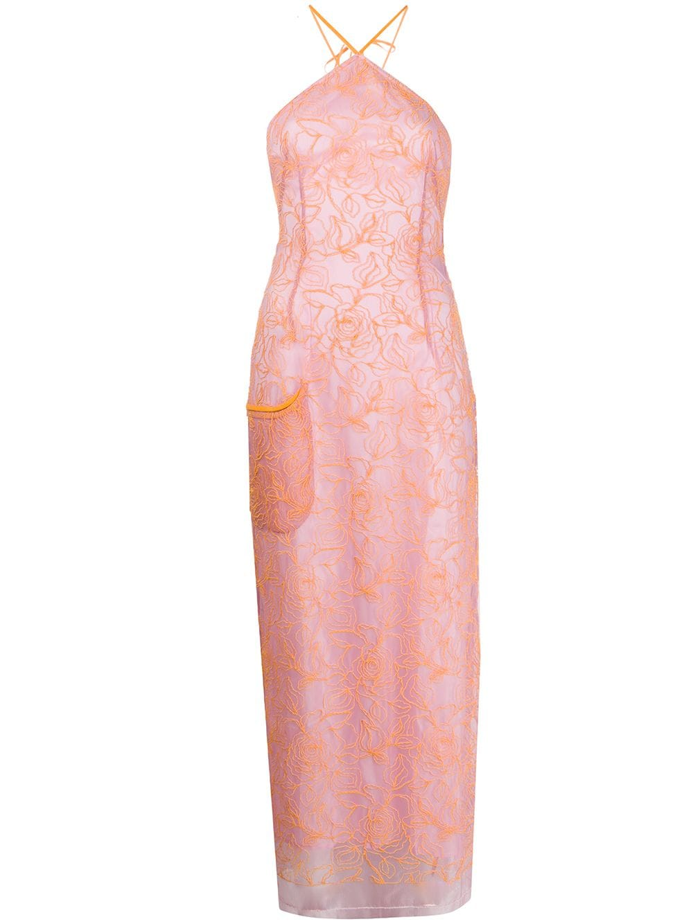 Lavandou pink and orange long dress Jacquemus |  | 201DR2327754