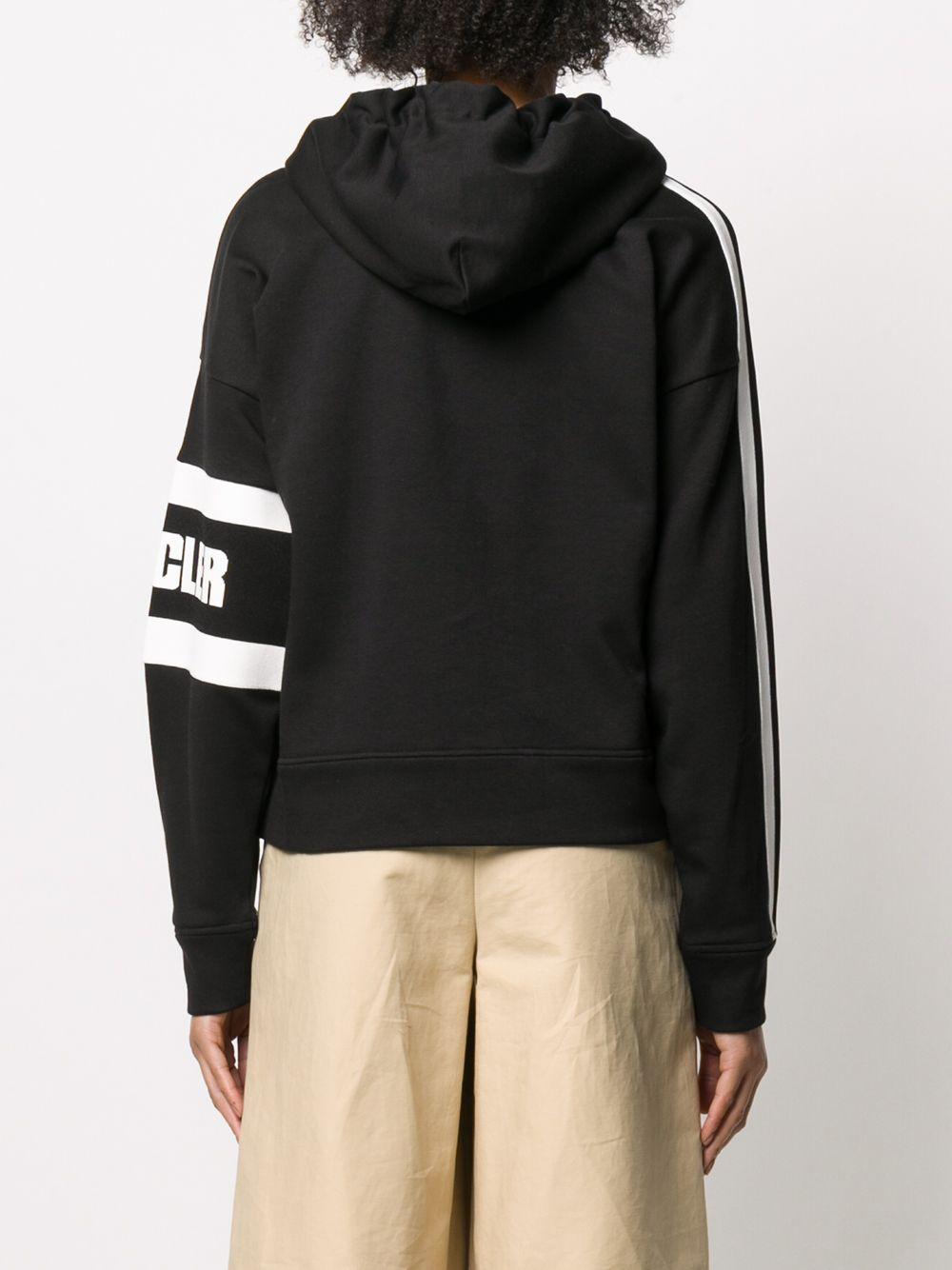 black sweatshirt with side Moncler white logo MONCLER      8G709-00-V8105999