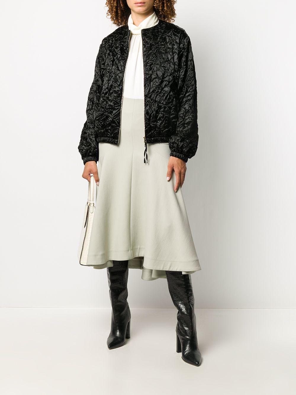 Bomber nero in seta e lana effetto stropicciato Rochas | Giubbini | ROPQ420266-RQ290200001