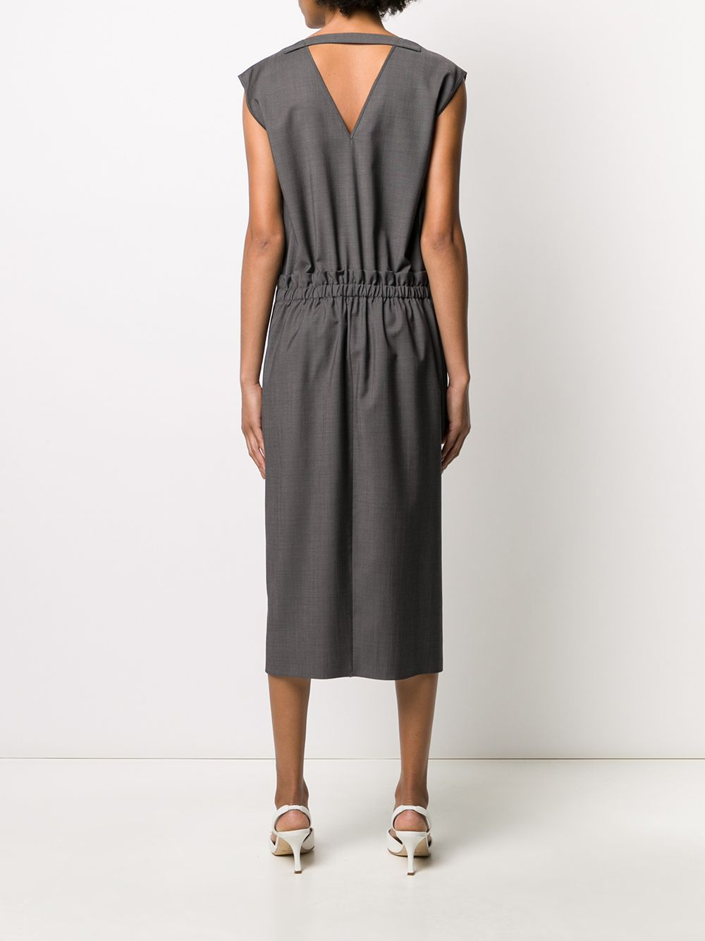 Antracite grey virgin wool elastic waist dress   ROCHAS |  | ROPQ502126-RQ200500035