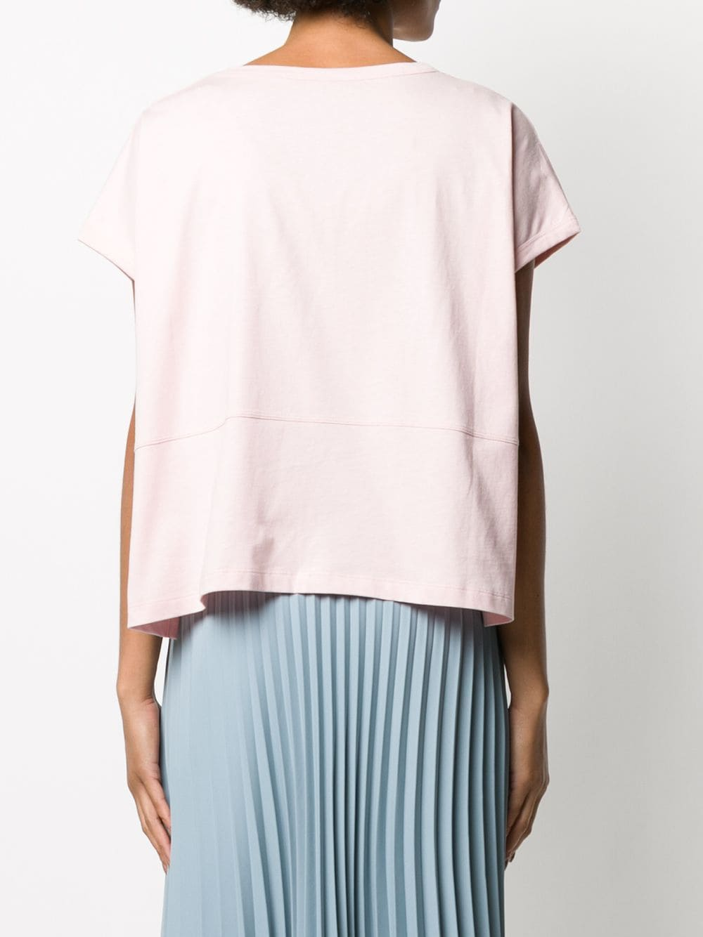 boxy-fit pink t.shirt with front logo STELLA MC CARTNEY      600121-SNW666900