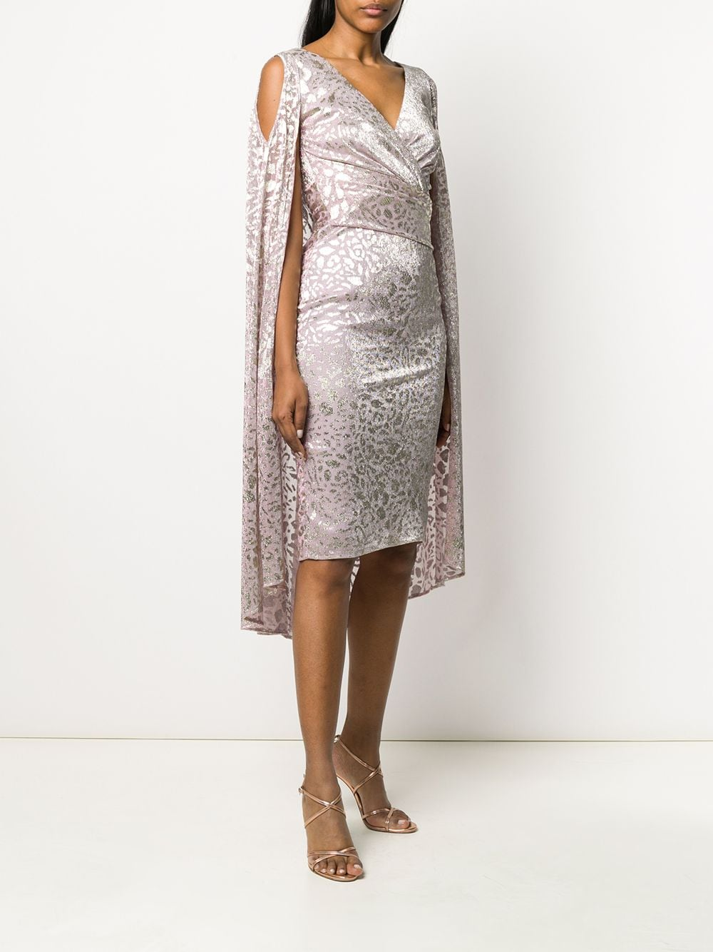 Pink metallic dress from featuring metallic threading TALBOT RUNHOF |  | BORGENA1-FK55317