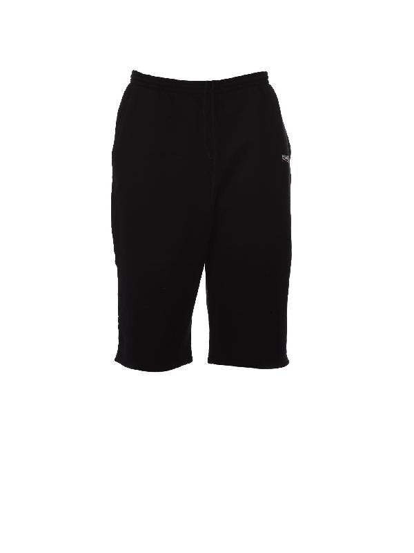 bermuda felpato nero con logo laterale Balenciaga BALENCIAGA   Bermuda   509833-TYK921000