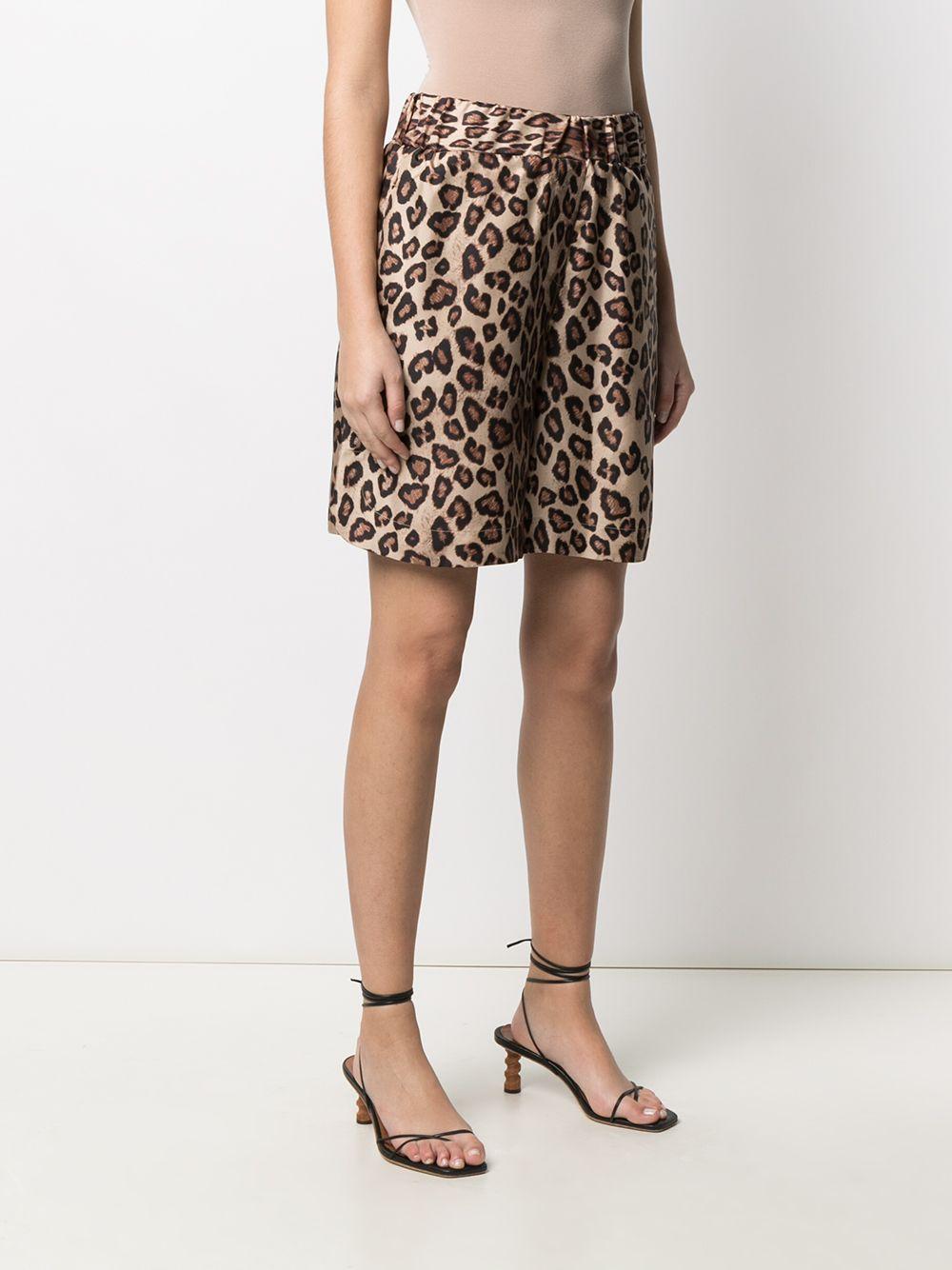 Beige silk leopard-print shorts  ALBERTO BIANI      CC846-SE310666