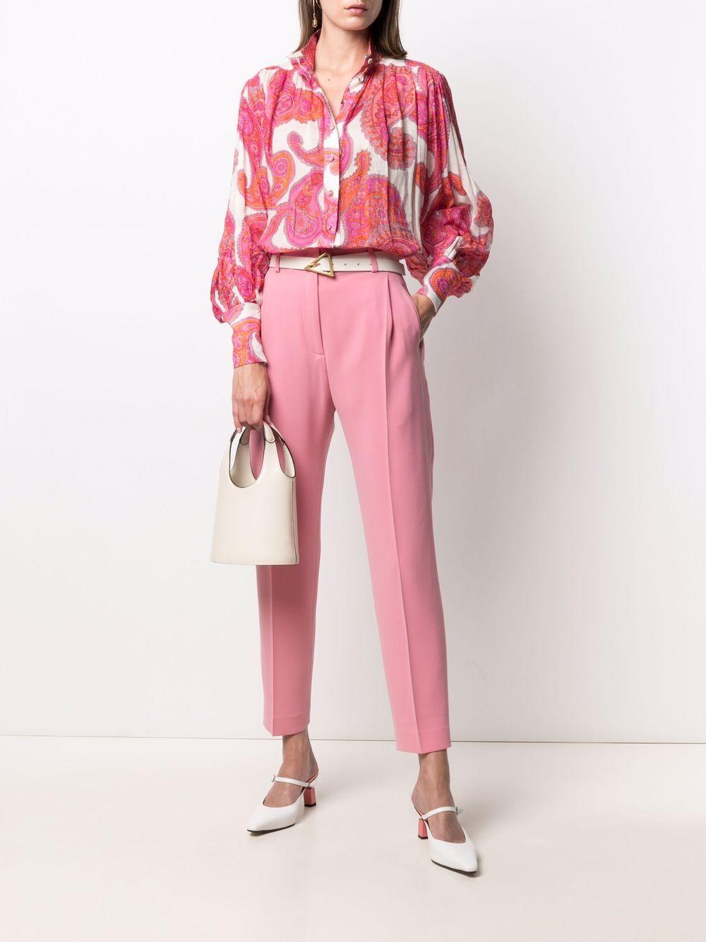 Pantaloni rosa affusolati con bottoni a pressione ALBERTO BIANI   Pantaloni   CC859-AC002847