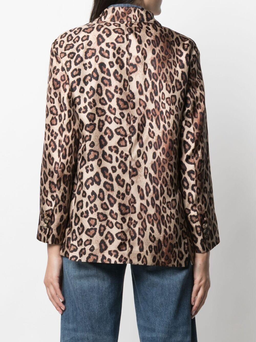 Blazer in seta leopardata con stampa all-over ALBERTO BIANI | Giacche | II864-SE310666