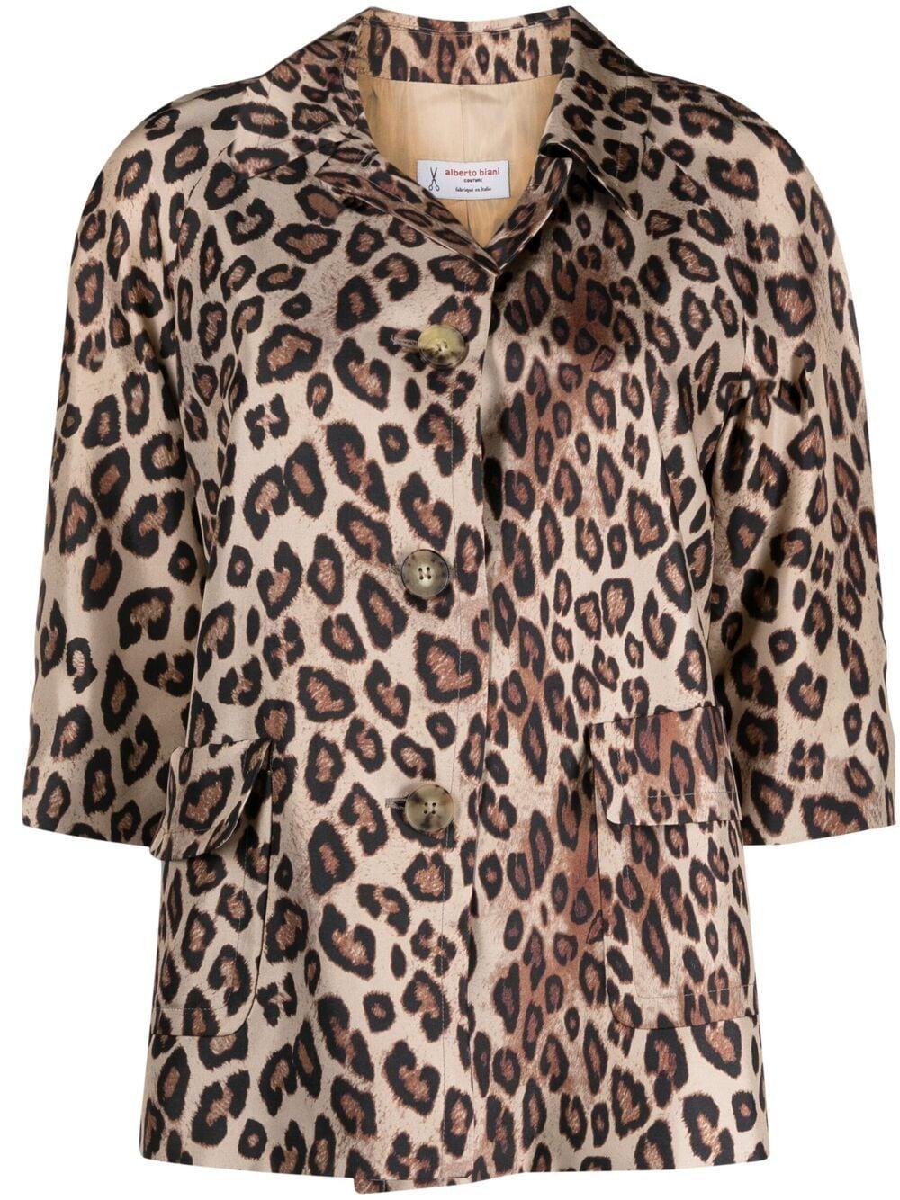 Silk leopard-print shirt  ALBERTO BIANI |  | PP857-SE310666