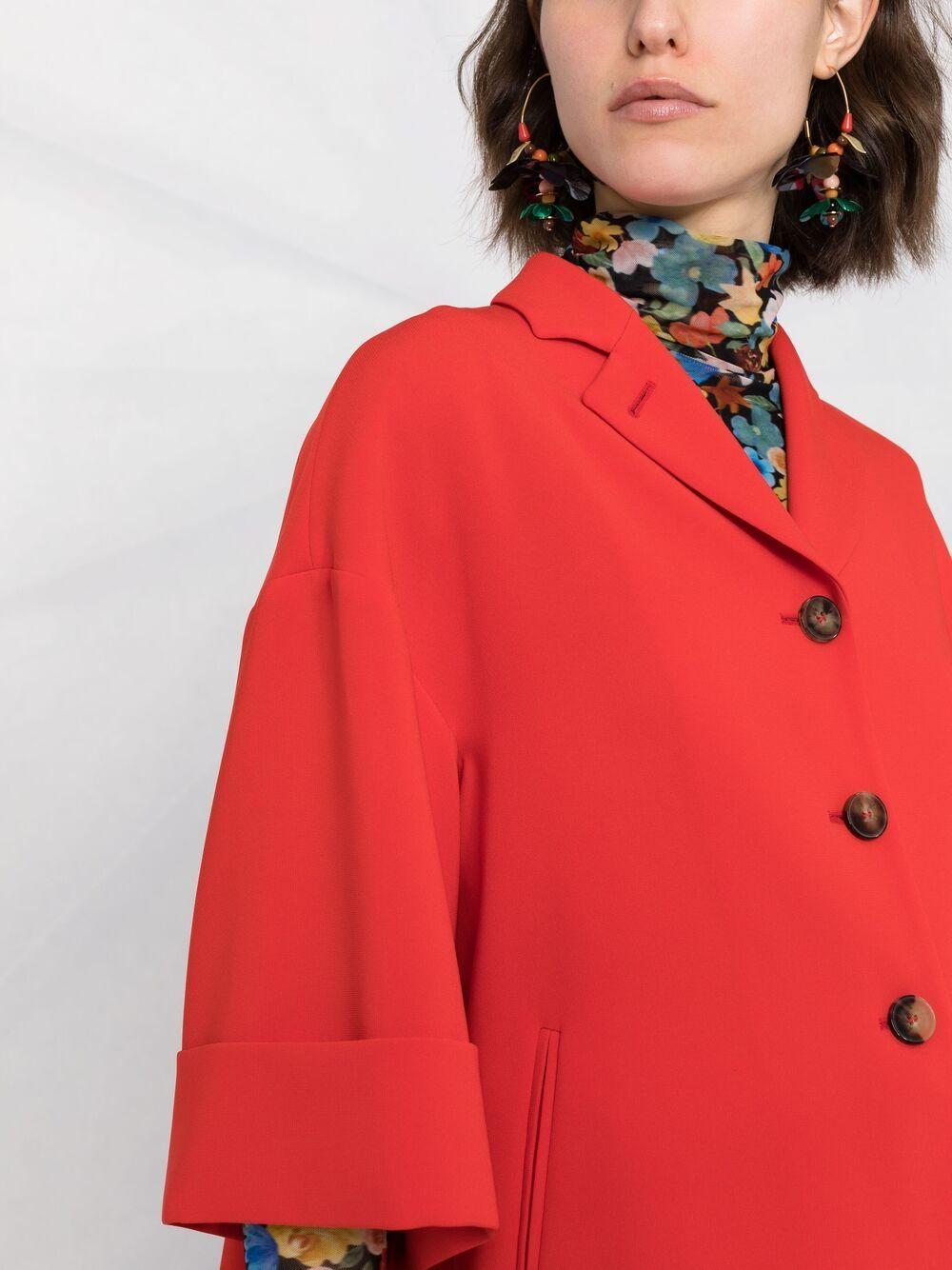 Scarlet red three-quarter sleeve blazer  ALBERTO BIANI |  | PP858-AC002841