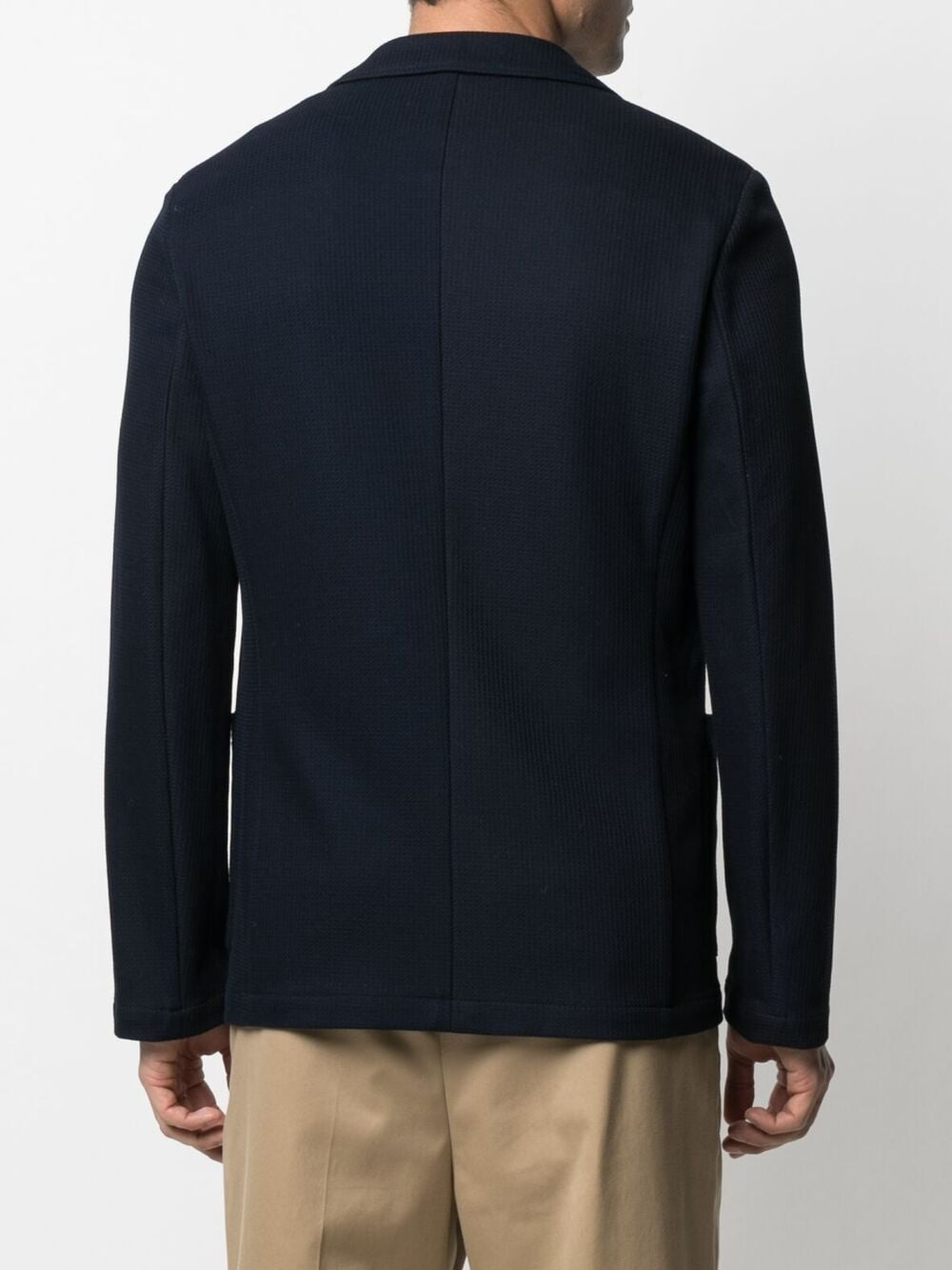 Navy-blue cotton double-breasted cotton blazer   ALTEA |  | 215230701