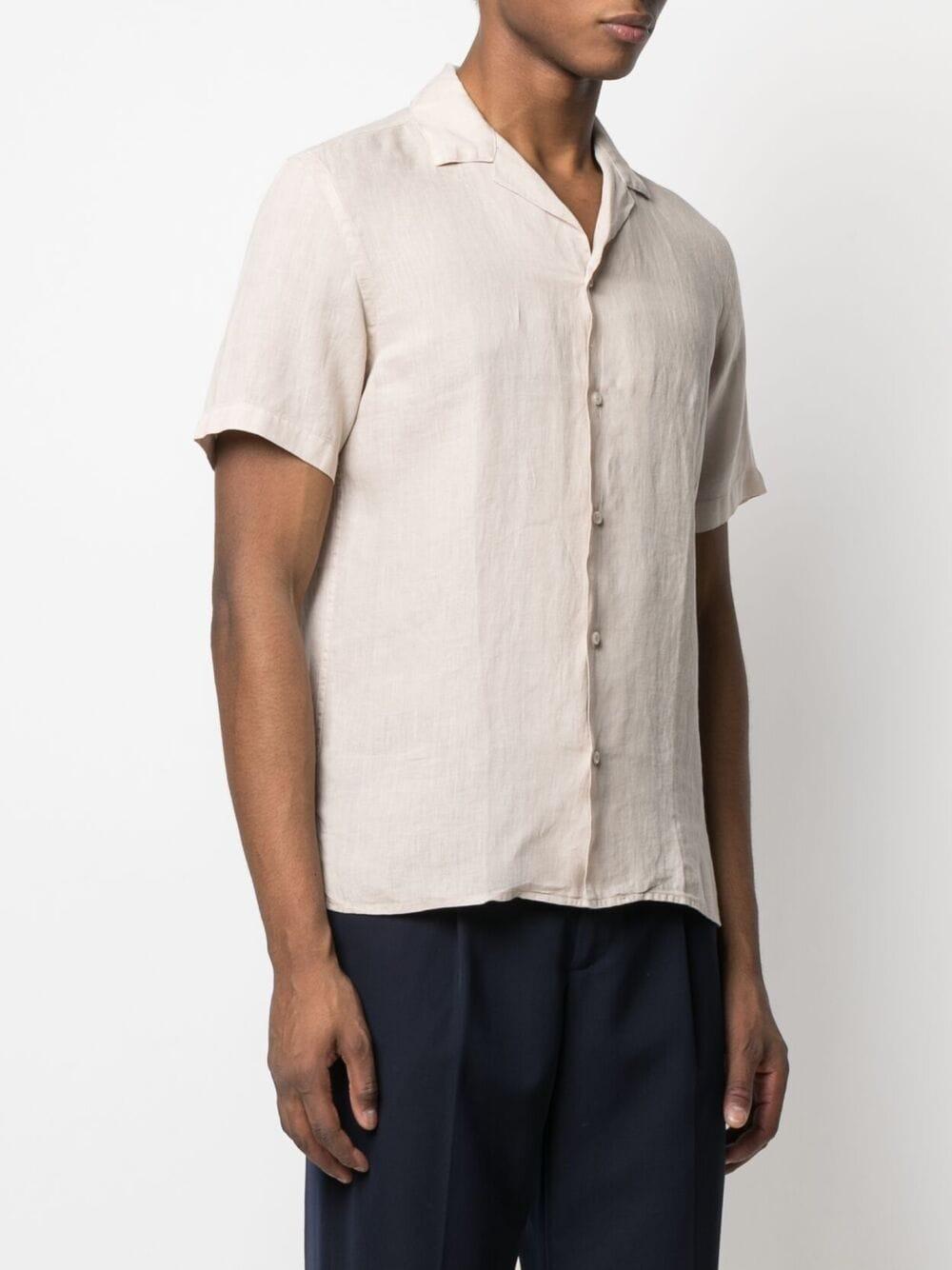 Beige linen spread-collar shirt  ALTEA |  | 215400331
