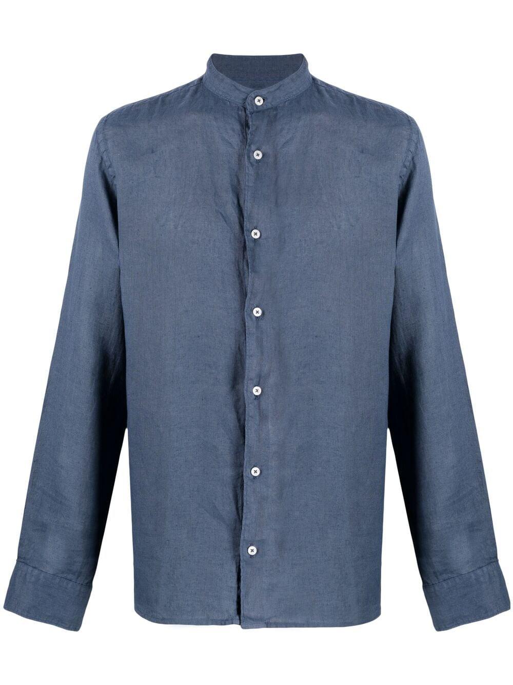Blue linen shirt featuring front button fastening ALTEA |  | 215400401