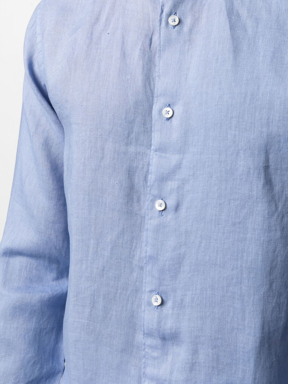 Sky-blue linen band-collar shirt  ALTEA      215400413