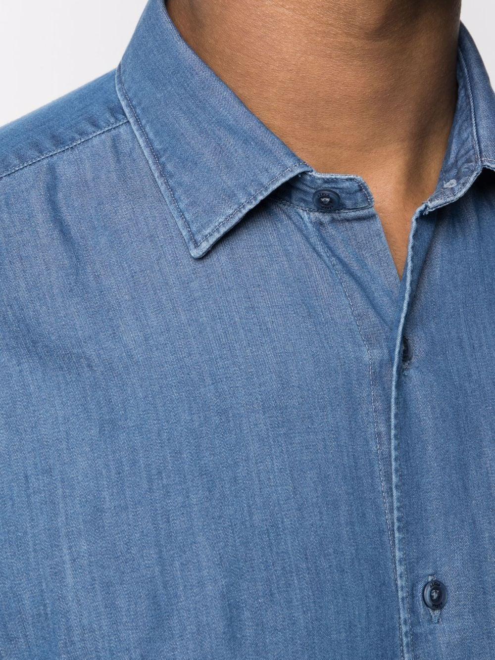 Camicia in denim di cotone blu scuro ALTEA   Camicie   215412312