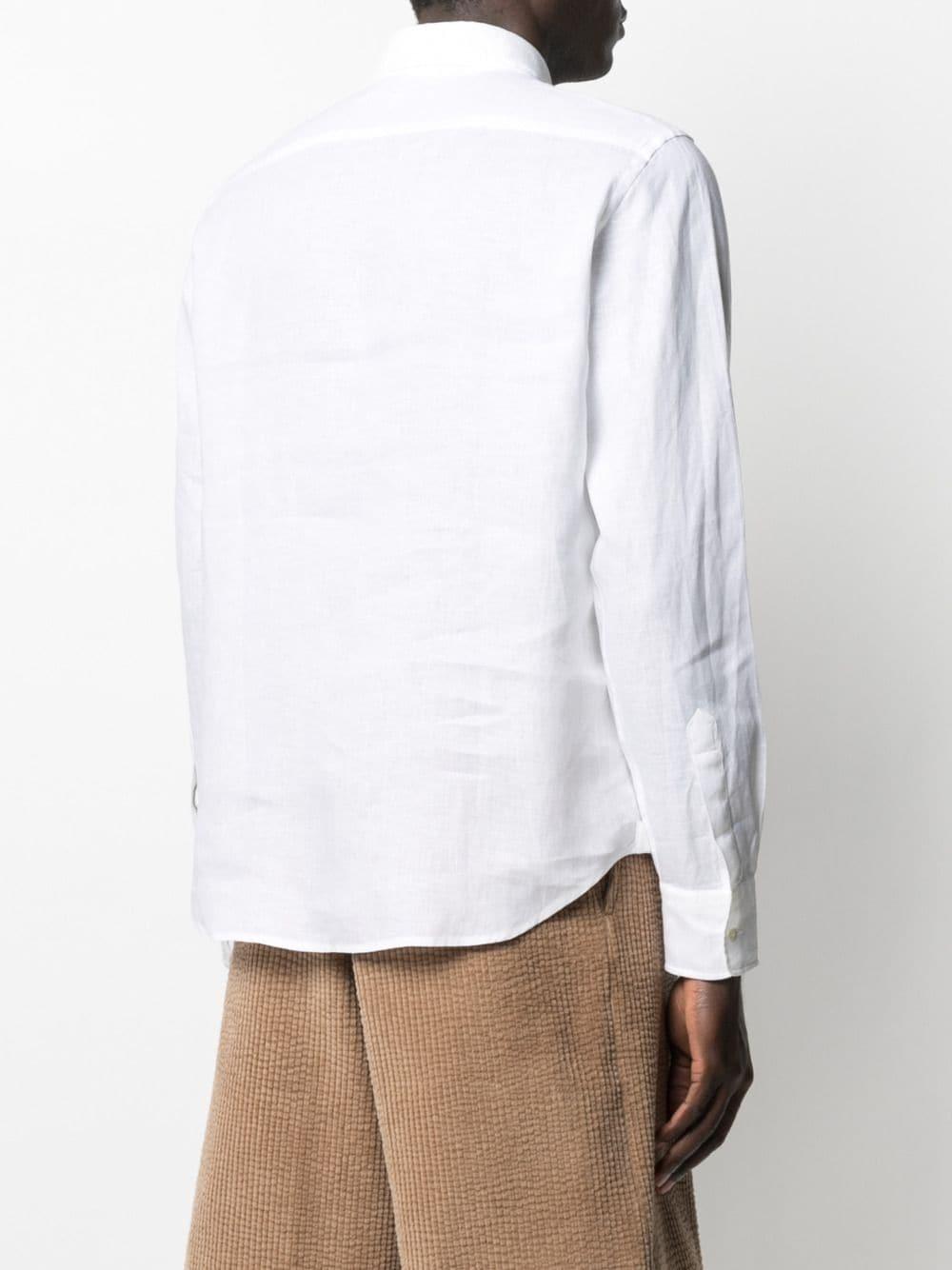 Camicia in lino bianco con colletto classico ASPESI | Camicie | CE166-C19585072