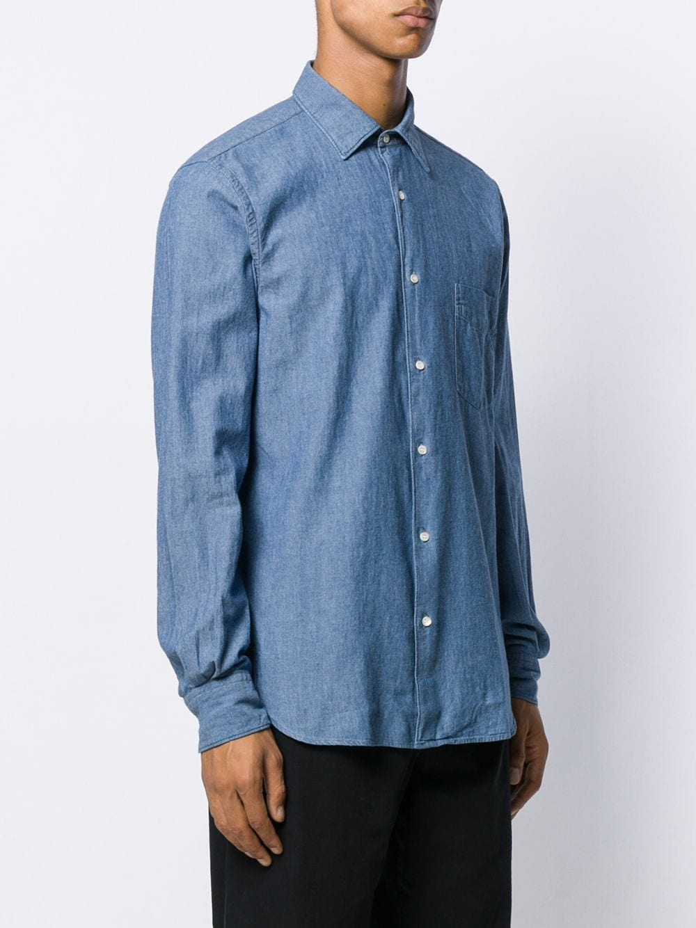 Blue jeans cotton plain long-sleeved shirt  ASPESI |  | CE36-E54201031