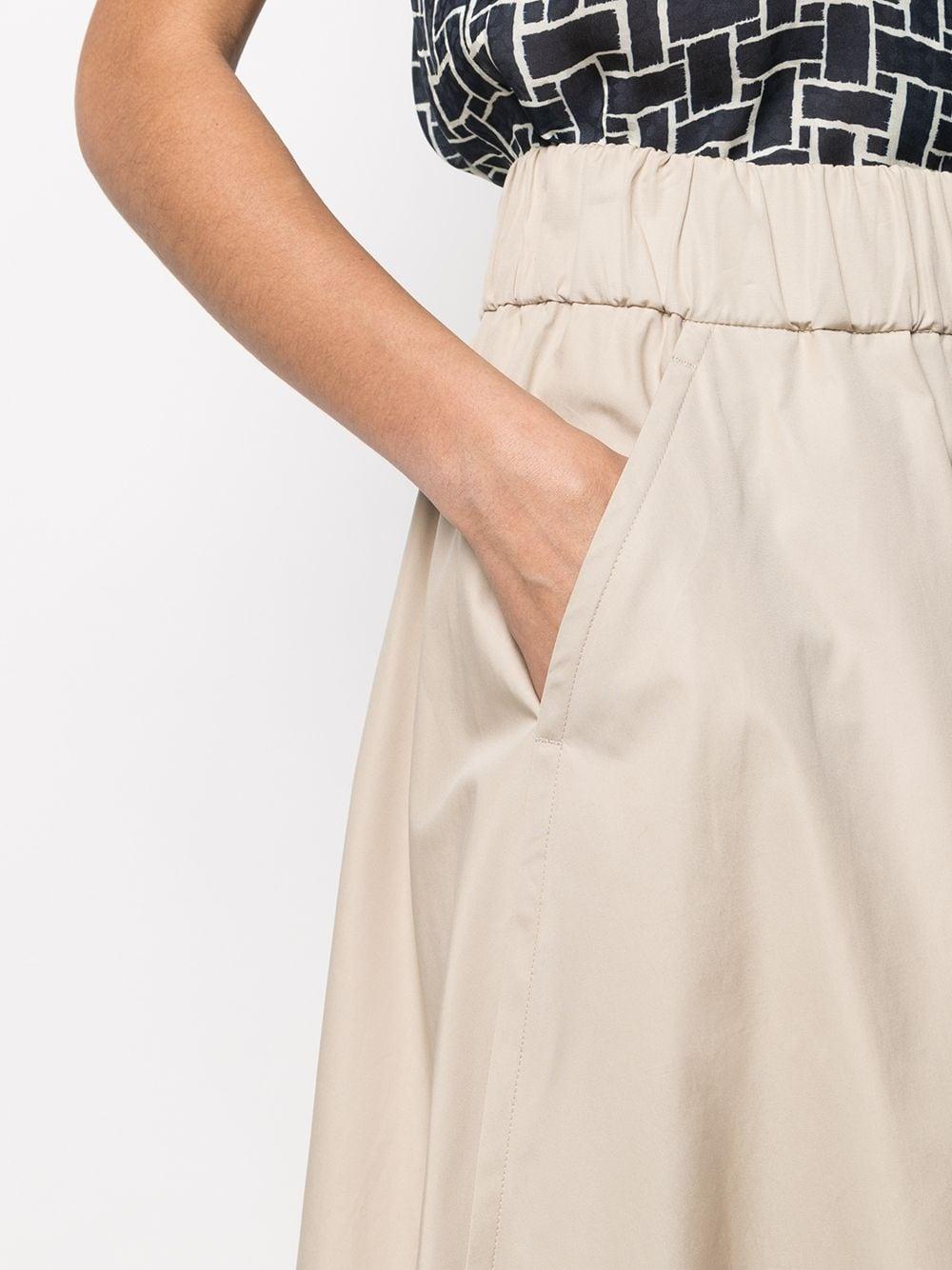 Pantaloni cropped in cotone beige a gamba larga con vita alta ASPESI   Pantaloni   H114-D30785186