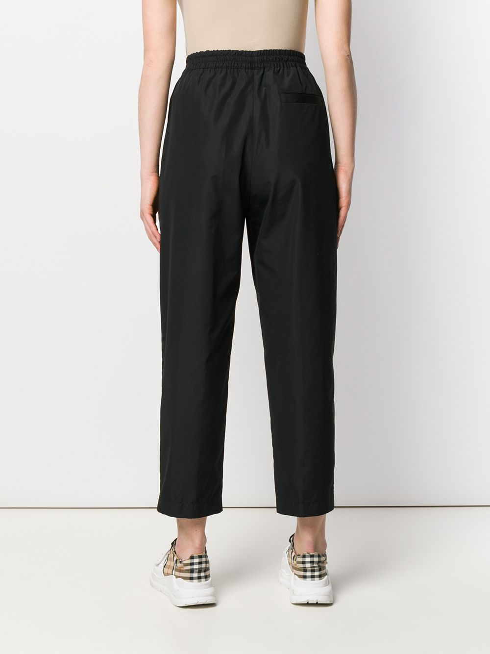 black cropped tapered cotton trousers featuring pleat detailing ASPESI |  | H115-D30785241