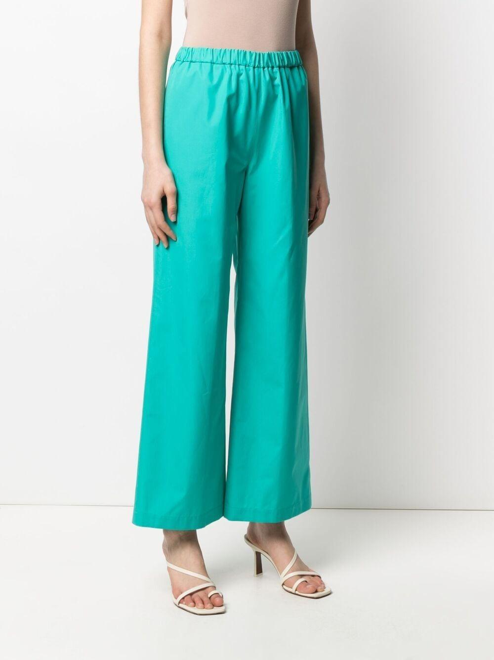 green cotton wide leg trousers featuring an elasticated waistband ASPESI      H128-D30785006