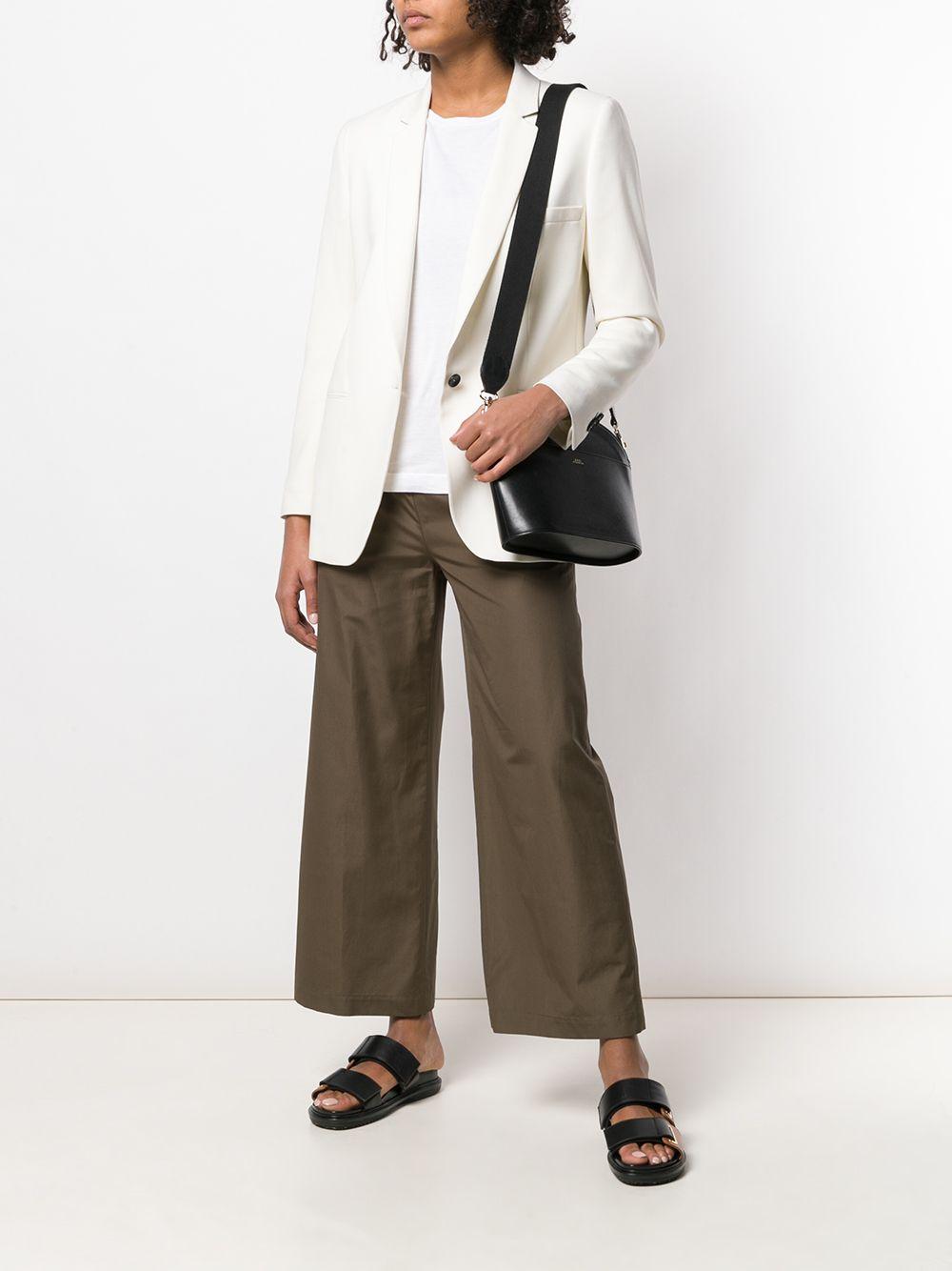 Dark green cotton wide leg trousers featuring an elasticated waistband ASPESI |  | H128-D30785237