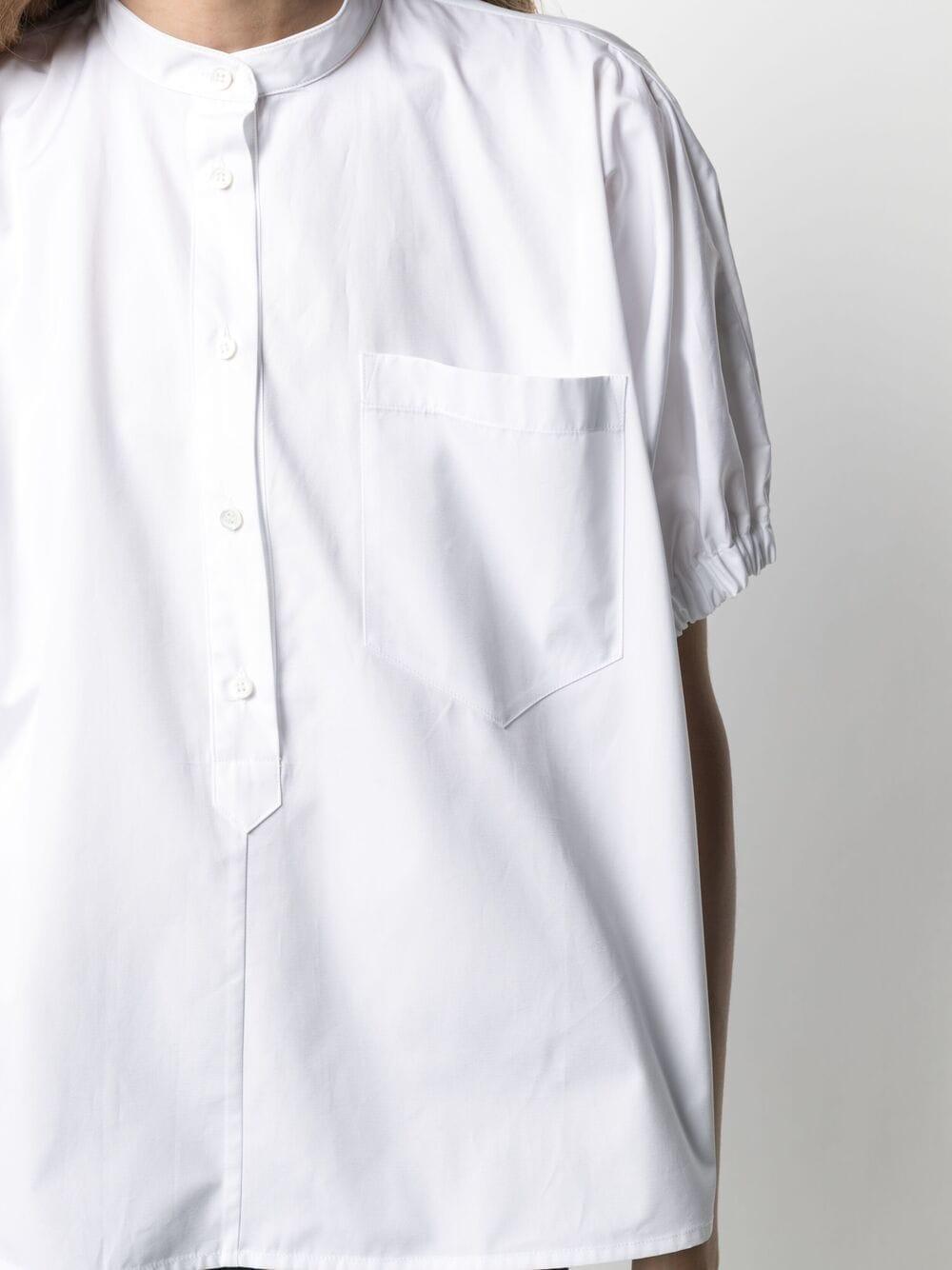 Camicia in cotone bianco con collo alla coreana con tasca sul petto ASPESI | Camicie | H712-D30785072