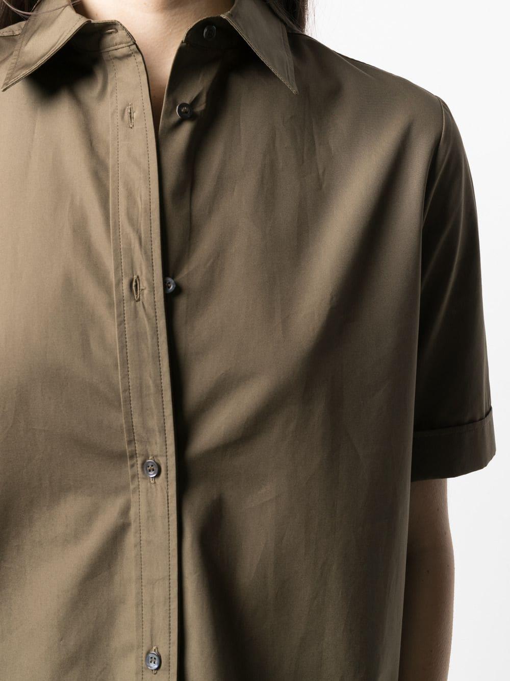 Brown cotton short-sleeved button placket shirt  ASPESI |  | H719-D30785237
