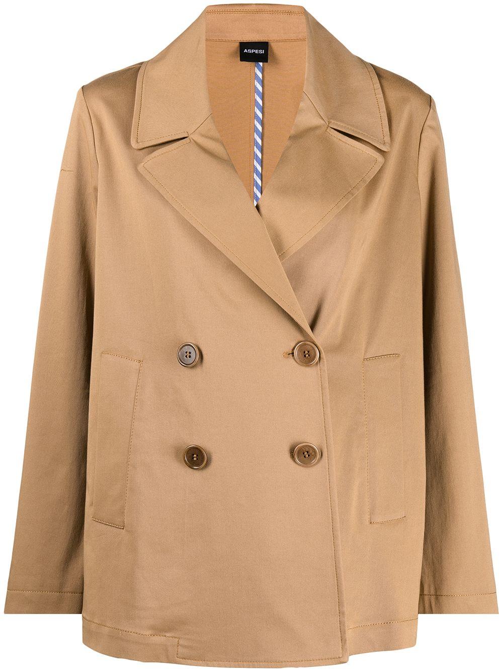 Camel cotton double-breasted blazer  ASPESI |  | WJ06-G41701372