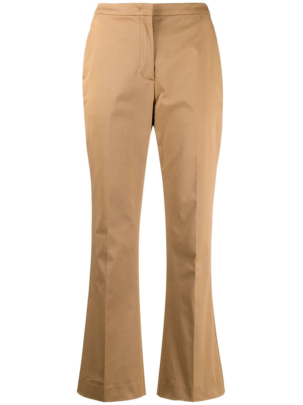 Camel stretch-cotton cropped kick-flare trousers  ASPESI |  | WP01-G41701372