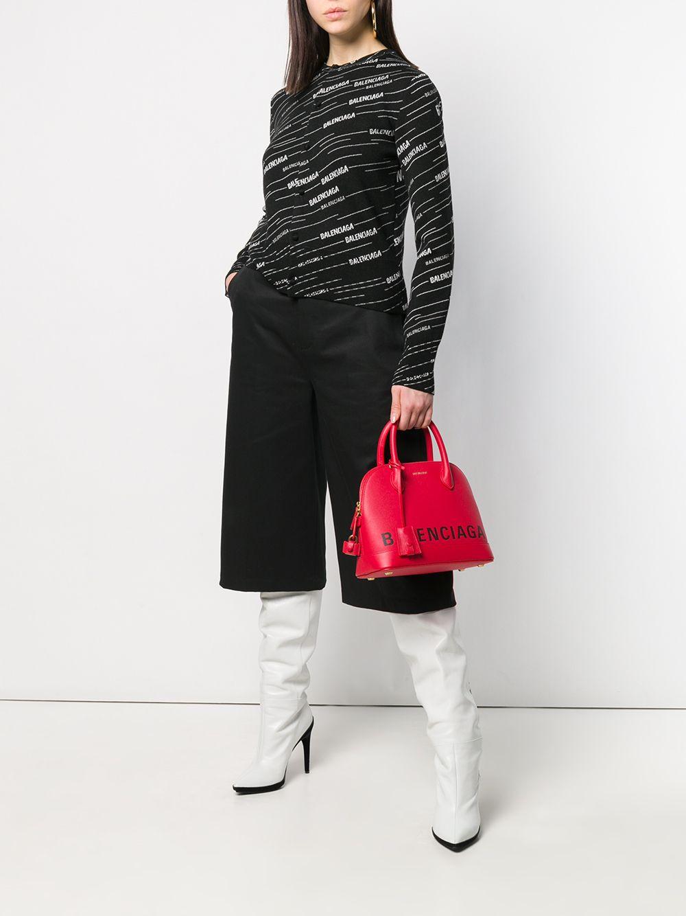 soft wool and virgin wool black and white cardigan  BALENCIAGA |  | 555294-T15241070