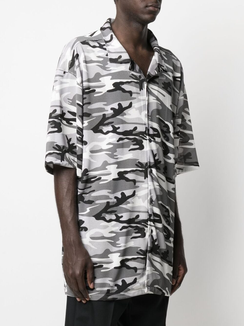 polyester and sports jersey shirt in mesh with grey camouflage print BALENCIAGA |  | 647651-TJLC51240
