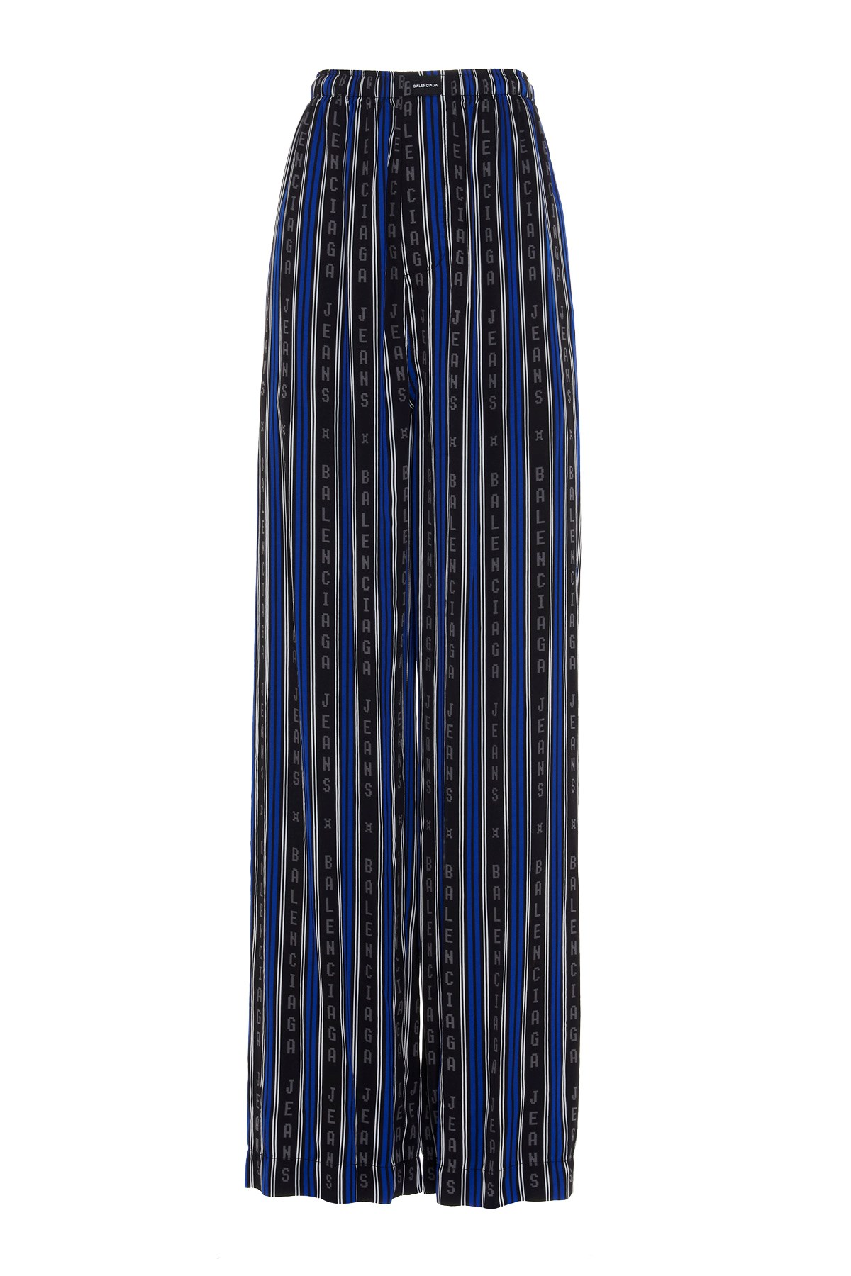 viscose trousers with blue and black vertical stripes  BALENCIAGA |  | 659026-TKL321165