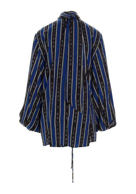 viscose shirt with blue and black vertical stripes  BALENCIAGA |  | 659088-TKL321165