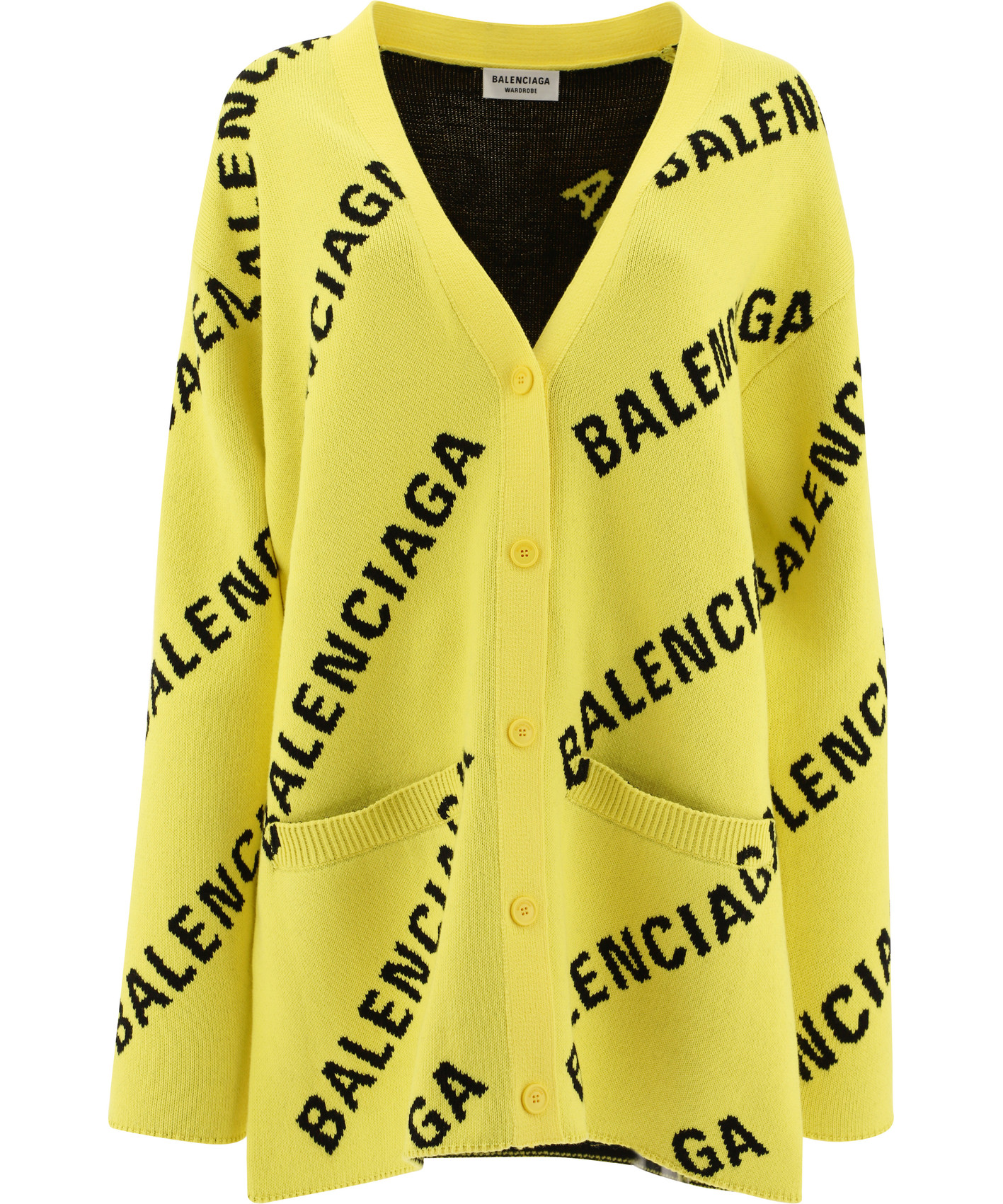 camicia viscosa fasce contrasto scritta logo verticale collo annodato lacceto vita m/l BALENCIAGA   Cardigan   659675-T32007440