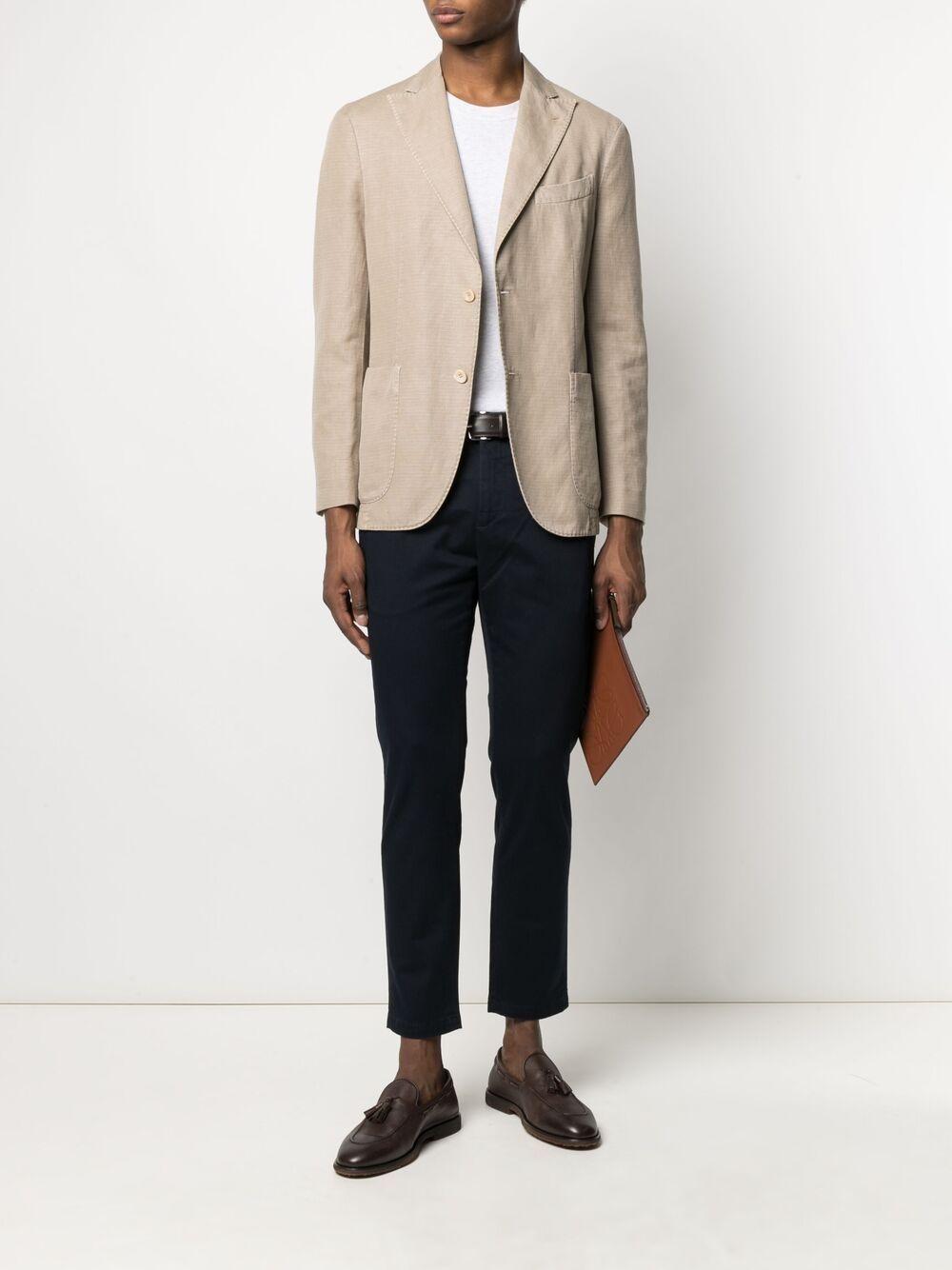 Beige cotton fitted single-breasted blazer BOGLIOLI |  | N6302Q-BTC4150250