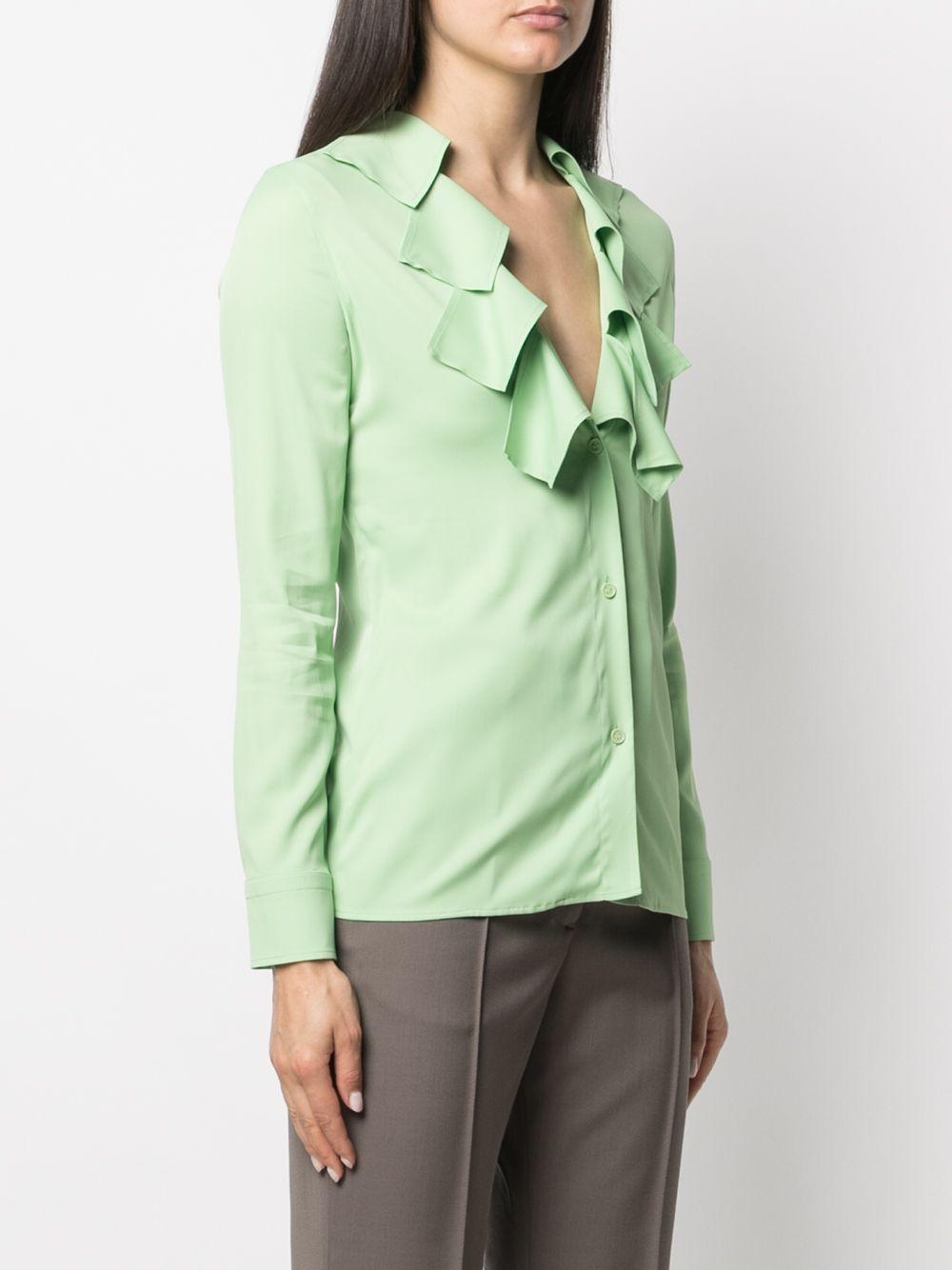 viscose light green blouse featuring cut-out detailing BOTTEGA VENETA |  | 646584-V01N03516