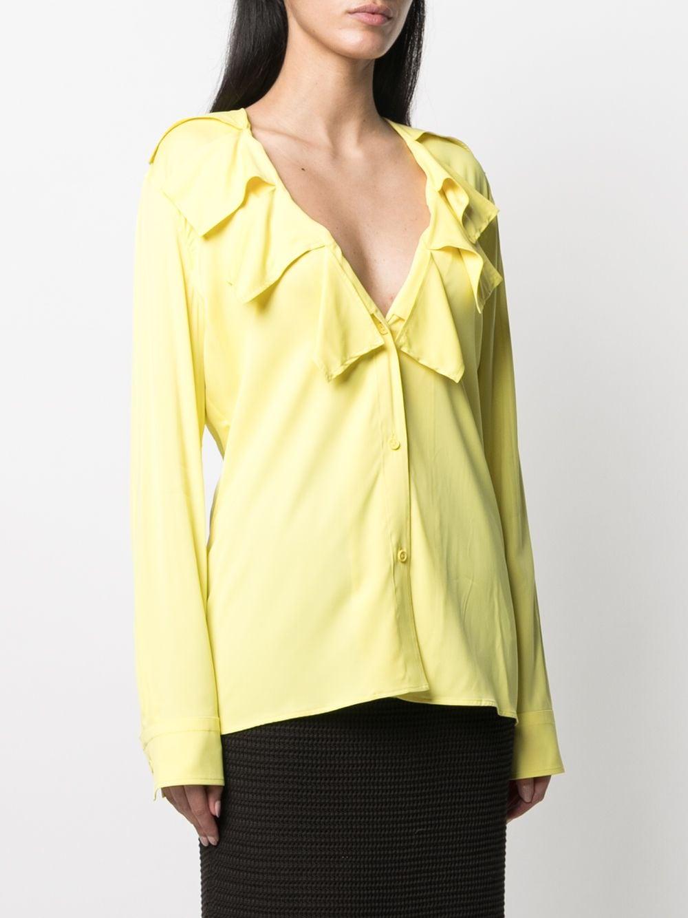 bright yellow viscose shirt featuring ribbon collar  BOTTEGA VENETA |  | 646584-V01N07219