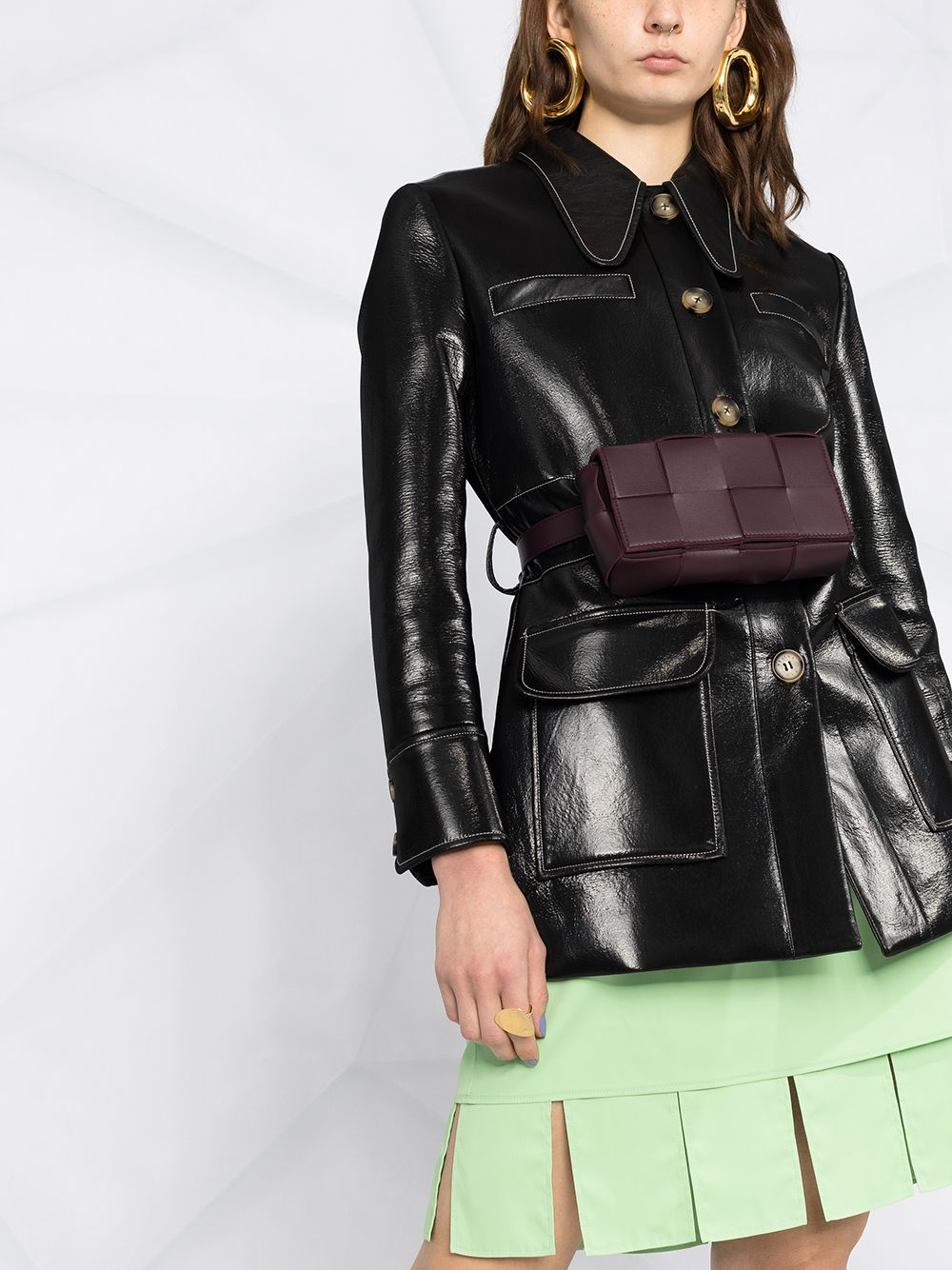 Pistachio mini skirt featuring cut-out edge BOTTEGA VENETA |  | 646585-V01N03516