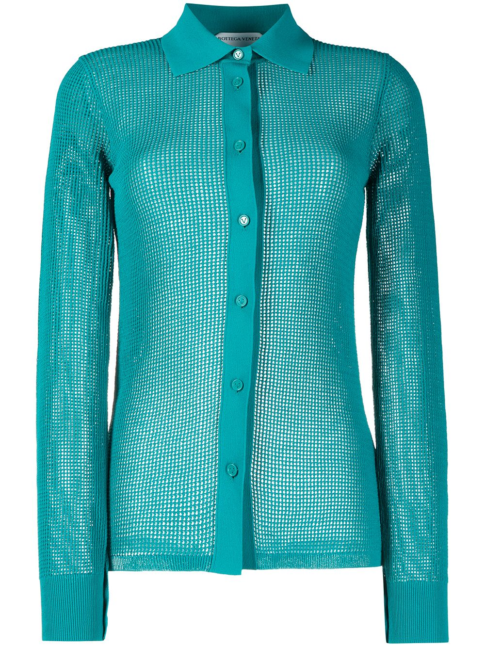 Petrol blue crystal-embellished shirt  BOTTEGA VENETA |  | 648977-V0BN03103