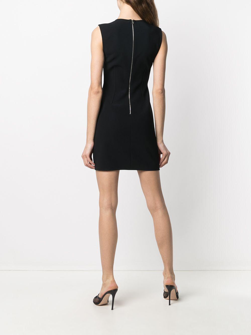 Mini abito nero senza maniche con corpetto disossato BOTTEGA VENETA | Abiti | 651230-VKE101000