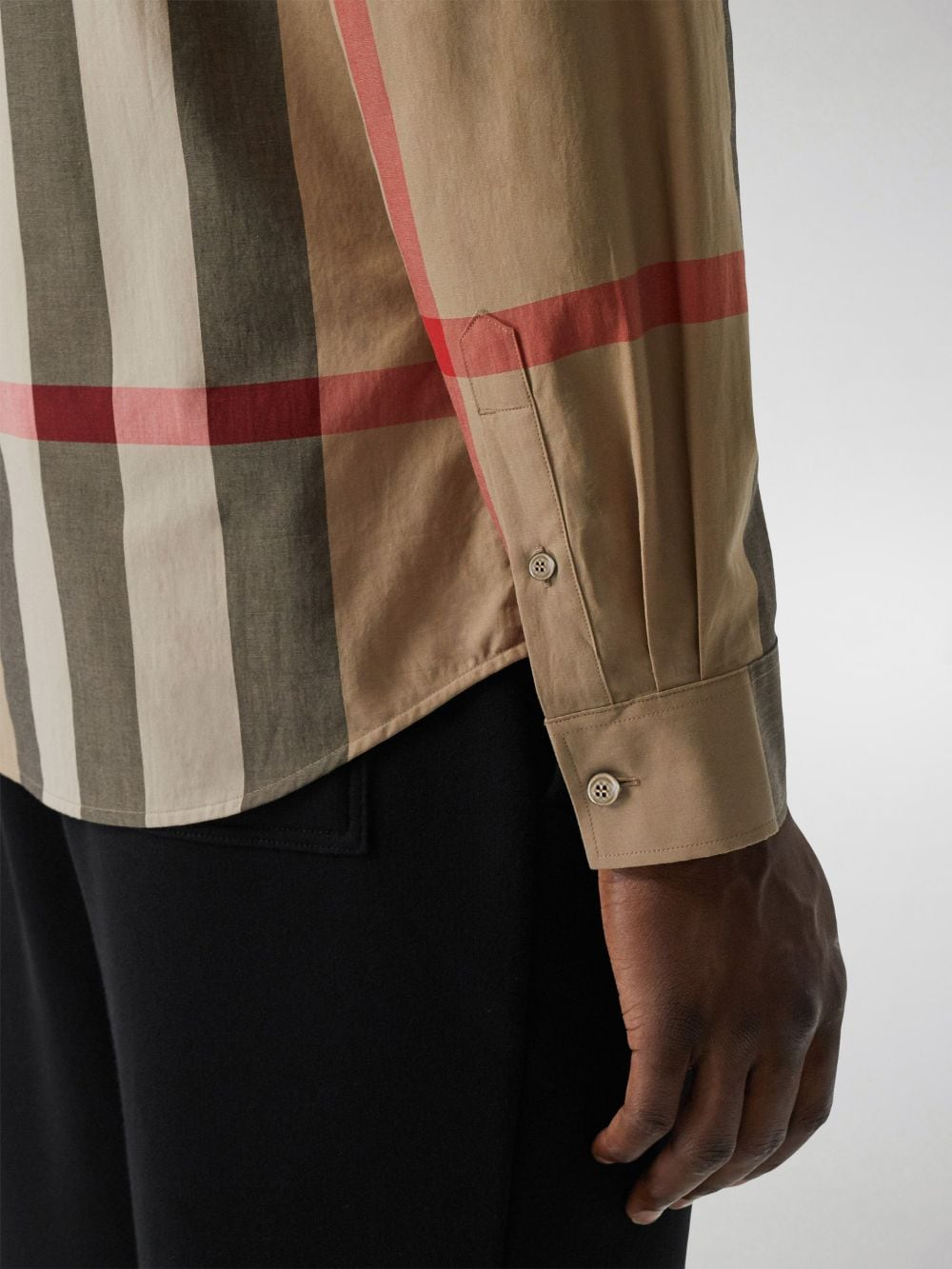 Beige cotton shirt in Burberry Check print  BURBERRY |  | 8010213-SOMERTONA7028