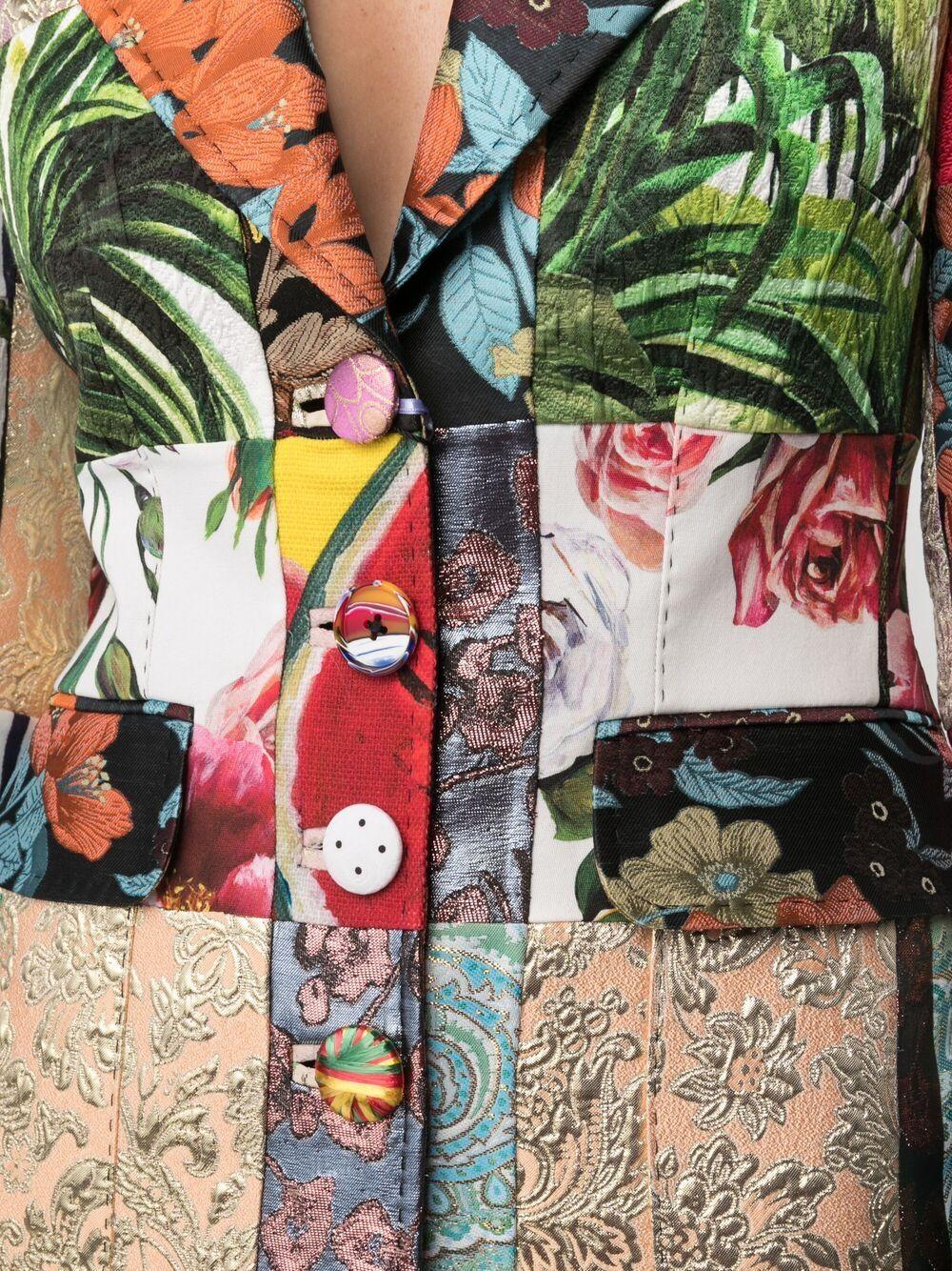 Blazer in tessuto jacquard patchwork multicolore DOLCE & GABBANA | Giacche | F26BOT-GDX78S9000