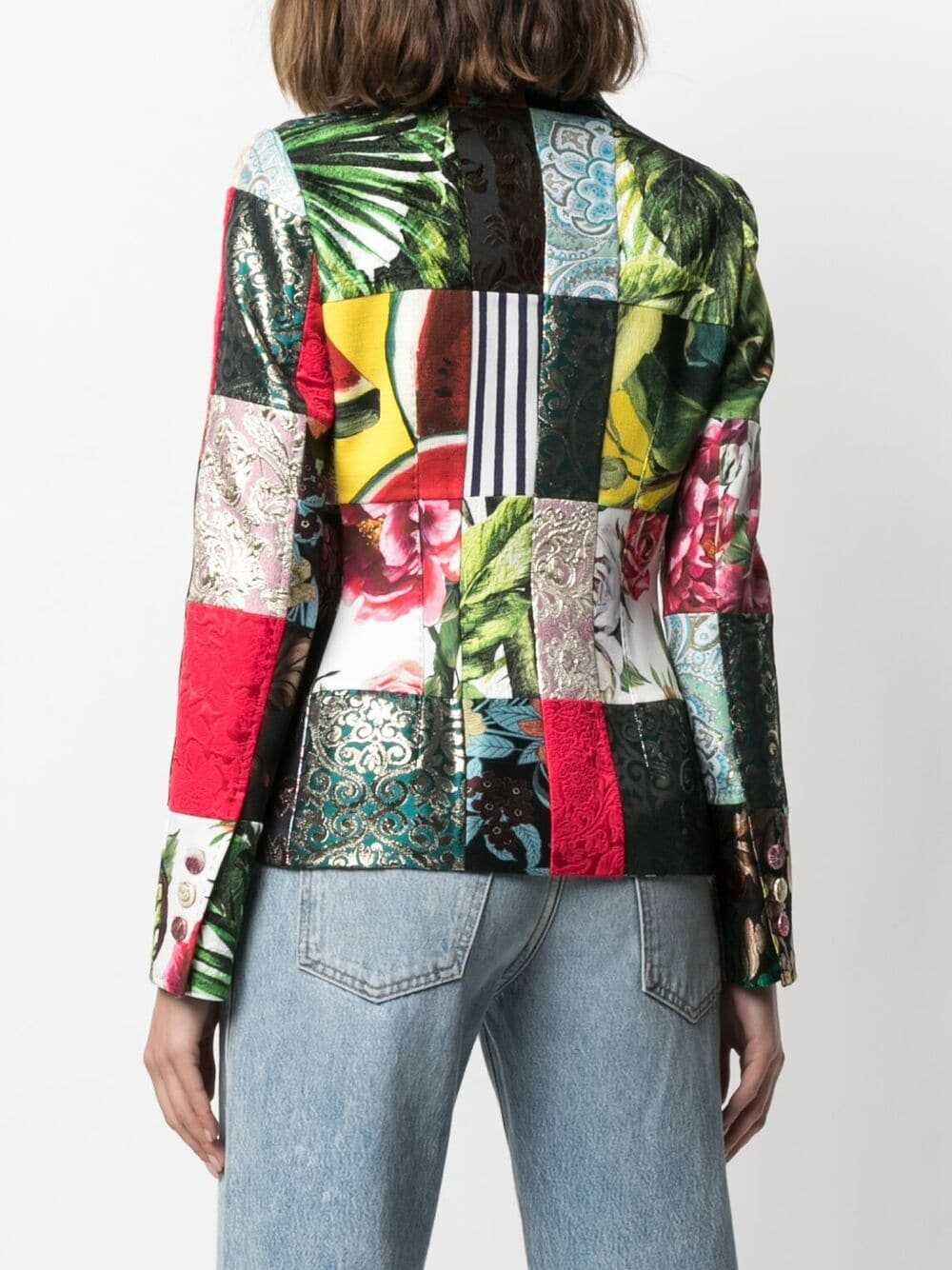 Multicoloured patchwork jacquard-woven blazer   DOLCE & GABBANA |  | F26BOT-GDX78S9000