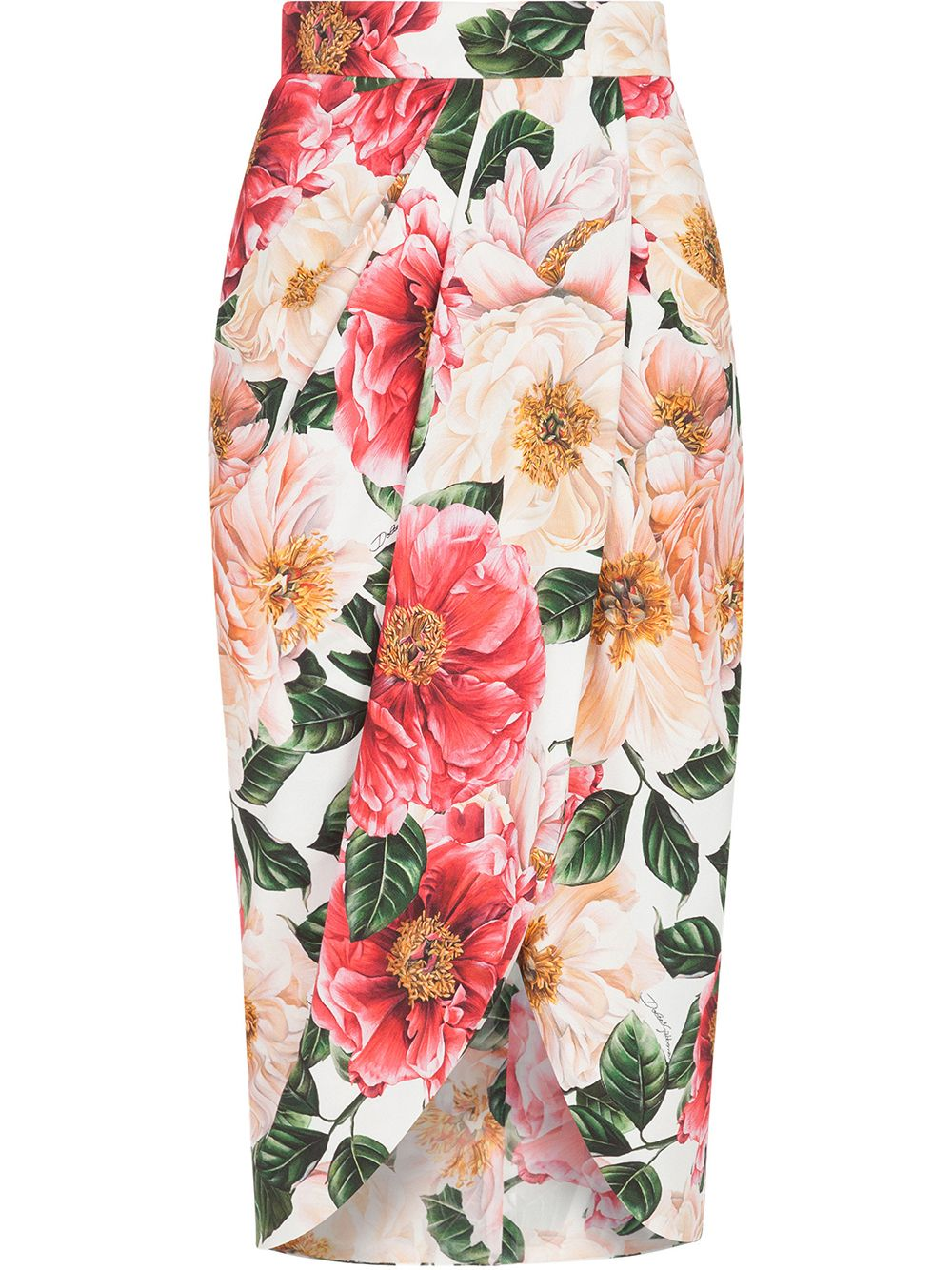 Pink skirt featuring all-over floral print  DOLCE & GABBANA |  | F4BWUT-FSRMUHA2AI