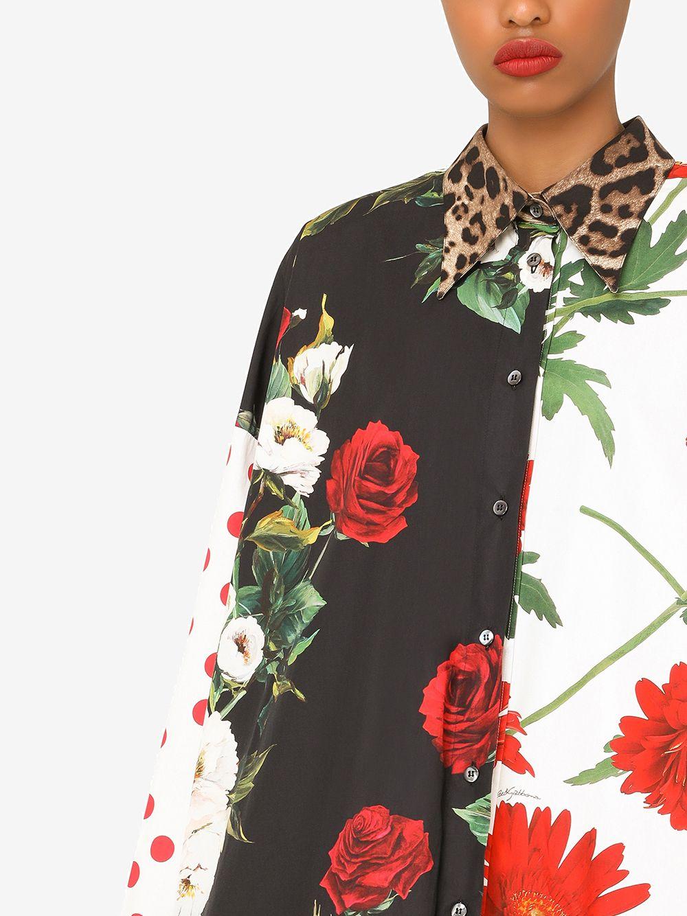 Camicia in cotone in stampa multicolore DOLCE & GABBANA | Camicie | F5O37T-GDZ05S9000