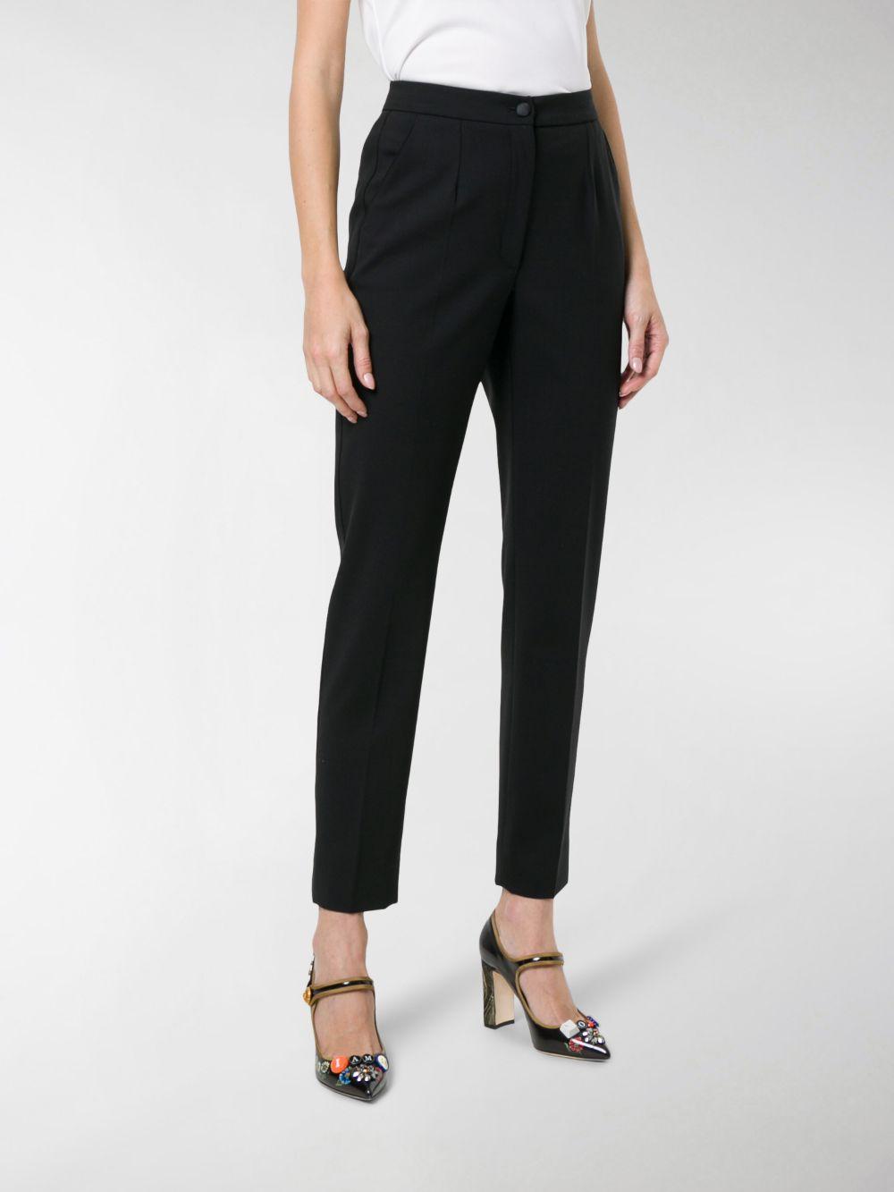 black slim fit tailored trousers in virgin wool DOLCE & GABBANA |  | FTAM2T-FUBAJN0000