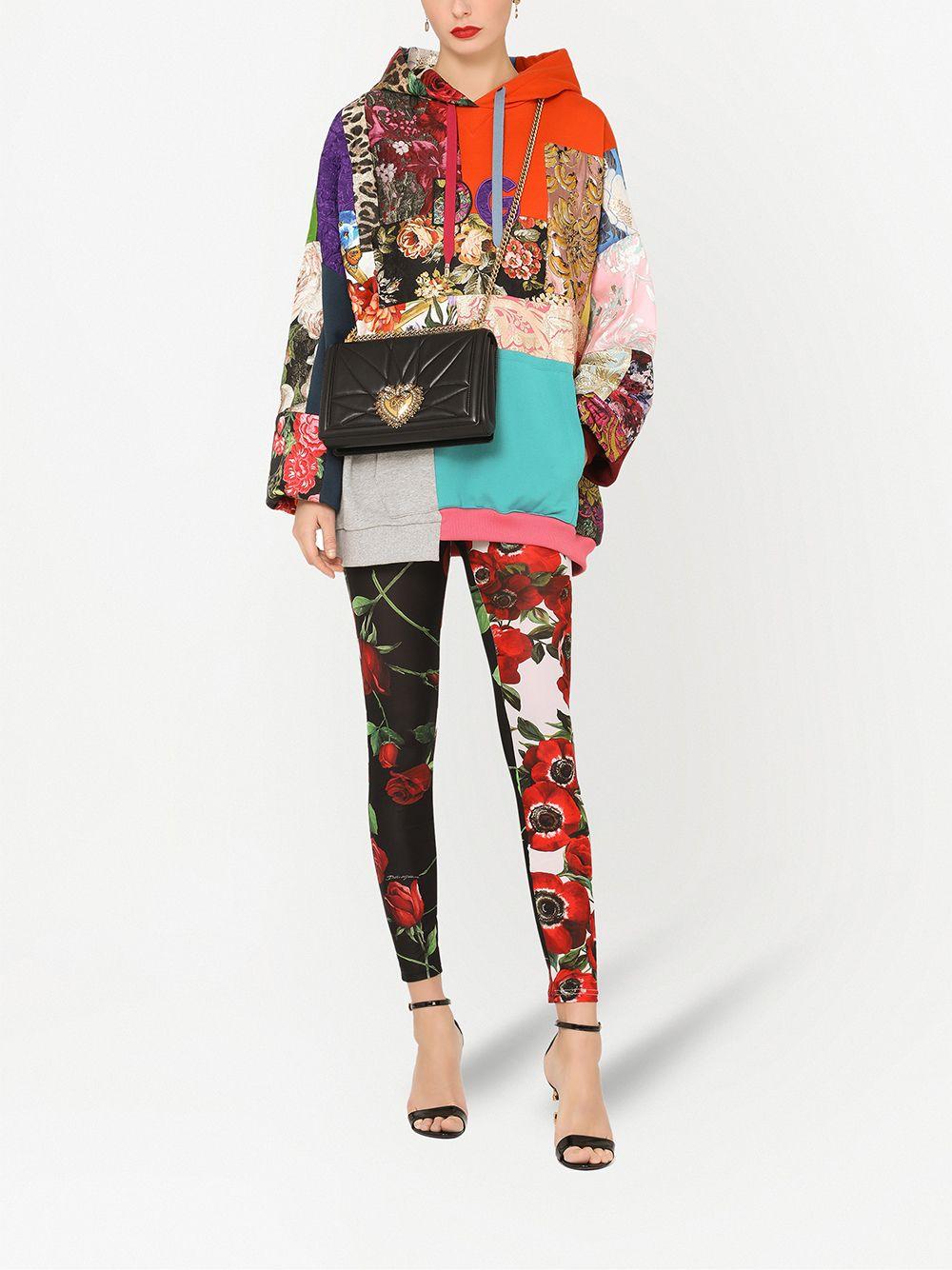 Pantaloni in stampa floreale patchwork multicolore DOLCE & GABBANA   Pantaloni   FTB1IT-GDX85S9000